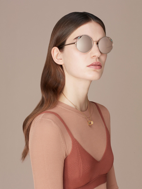 "Serpenti ""True Colours"" round metal sunglasses Truecoloursround image 3"