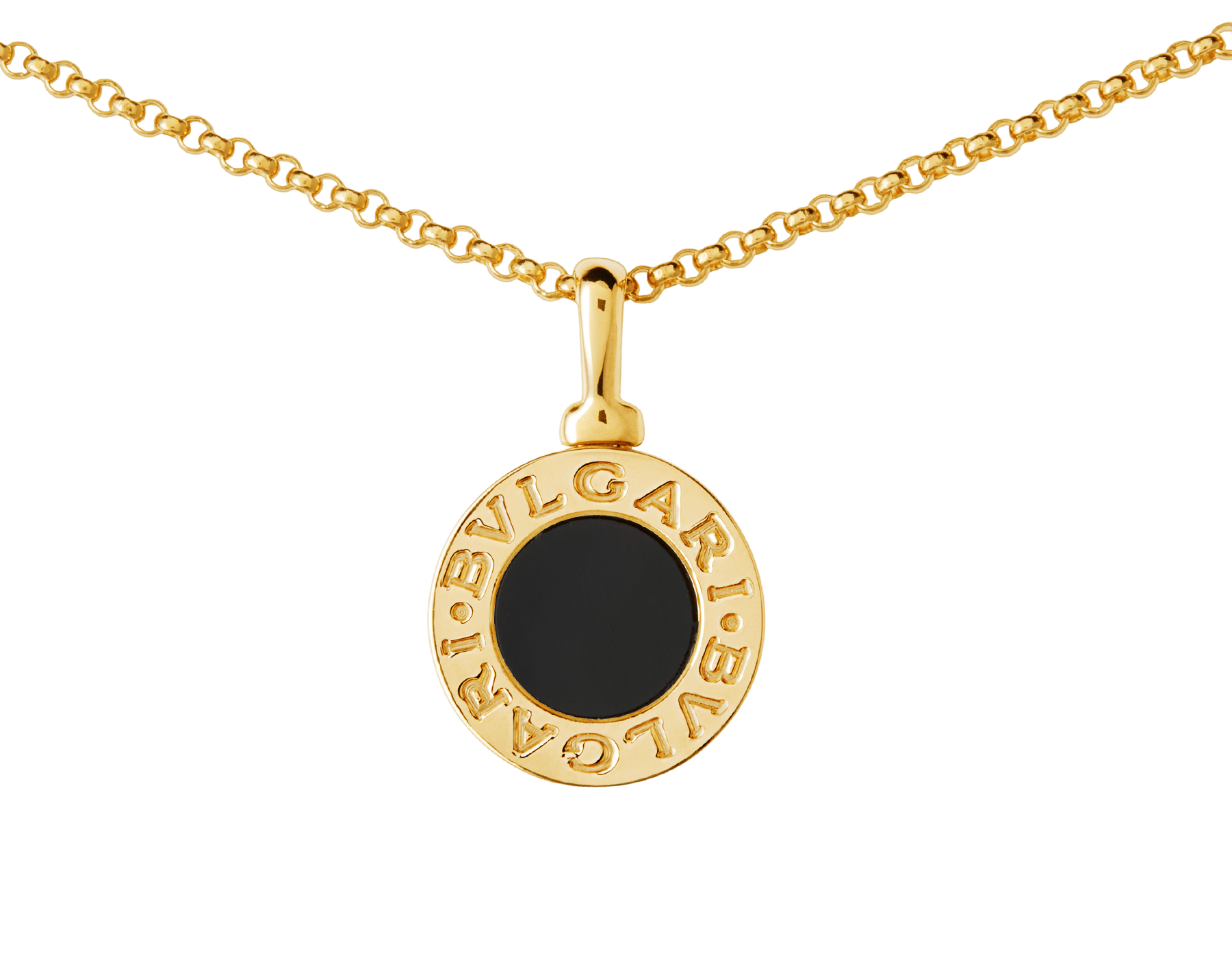 BVLGARI BVLGARI necklace with 18 kt yellow gold chain and 18 kt yellow gold pendant set with onyx 350554 image 3