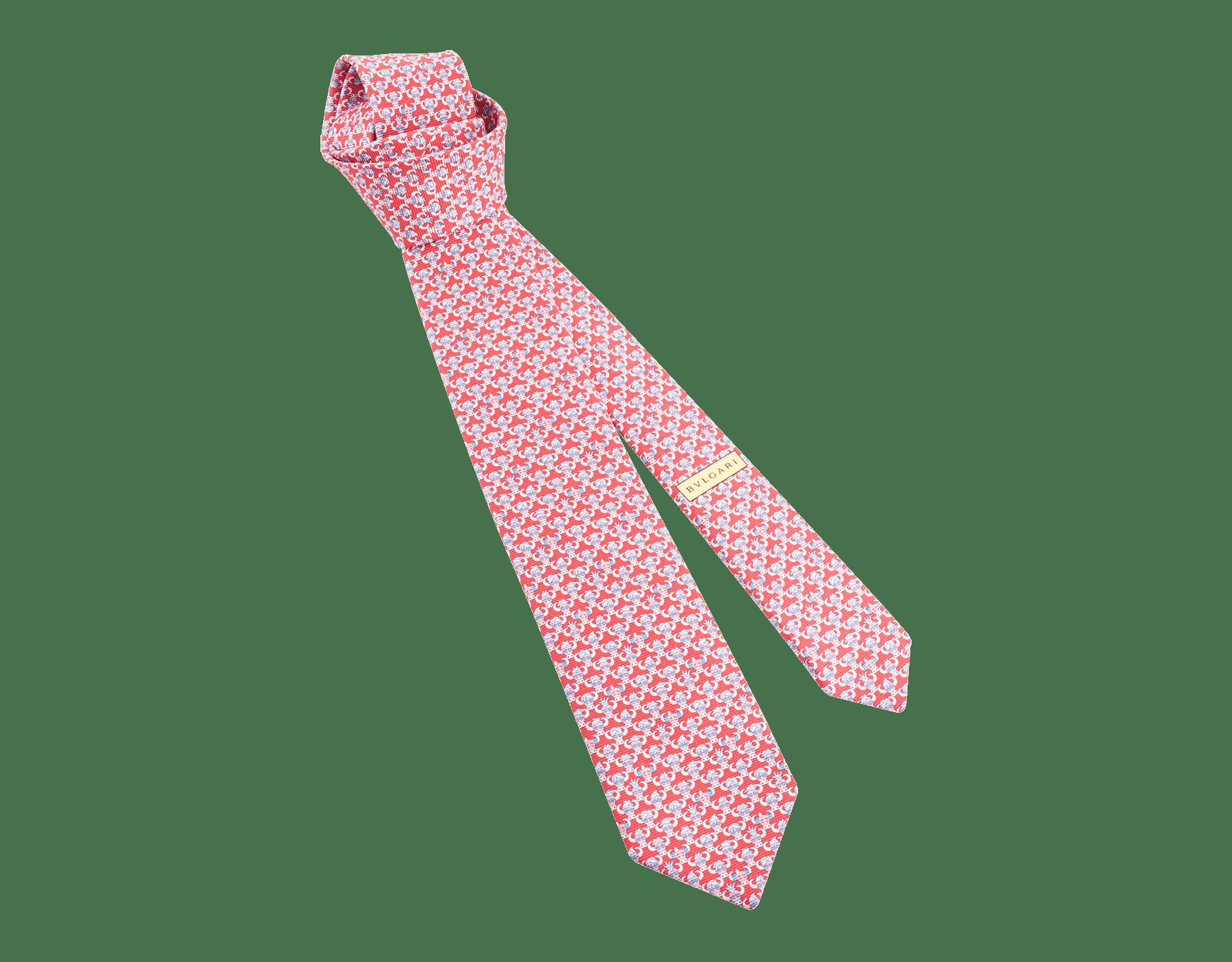 Siebenfach gefaltete gelbe Soxial Krawatte aus feiner Saglione-Seide. SOXIAL image 1