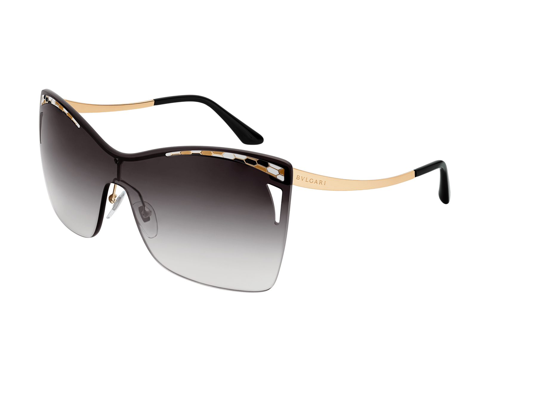 Bulgari Serpenti eye-bite metal shield sunglasses. 903979 image 1