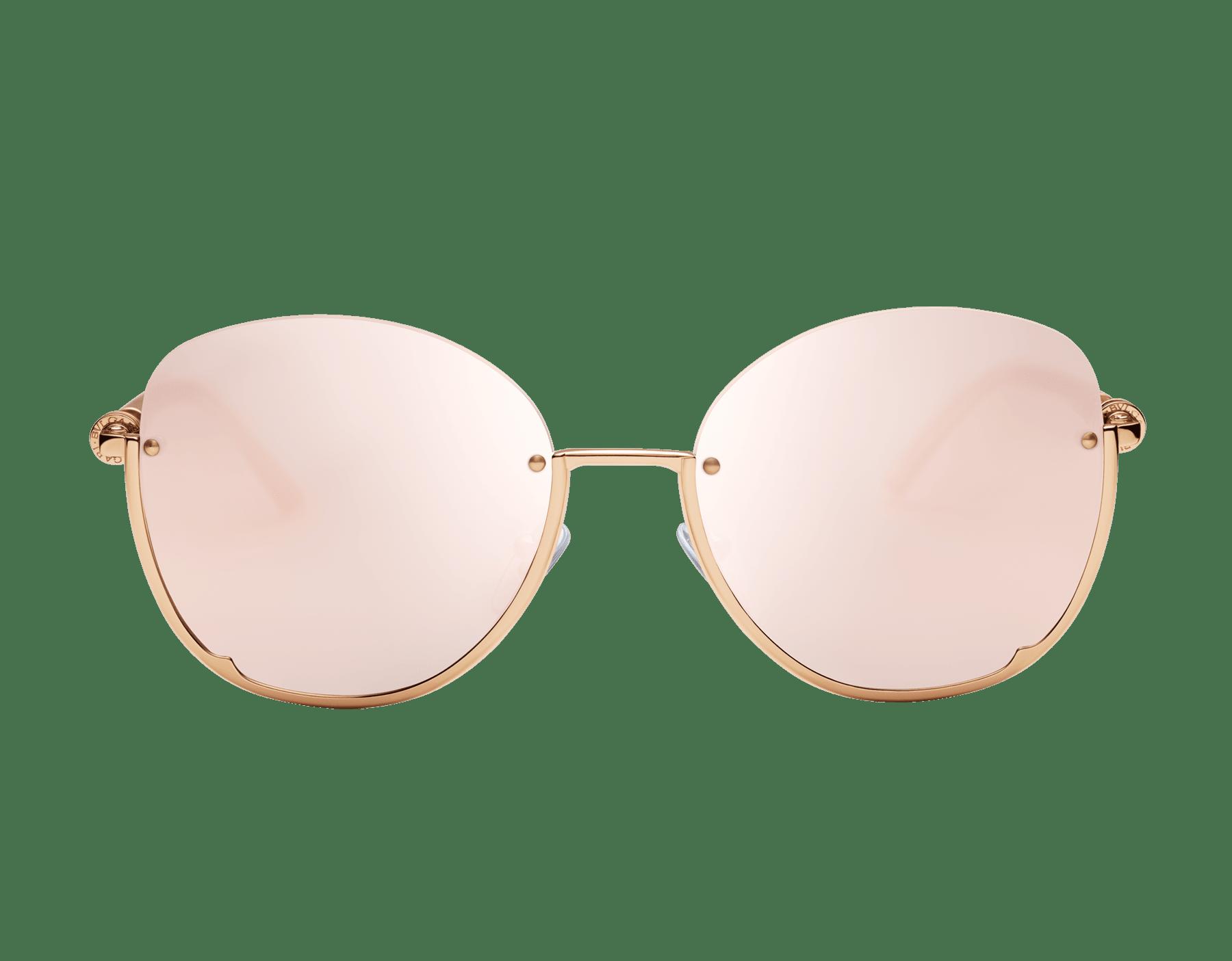 Runde Bvlgari B.zero1 Halbrand-Sonnenbrille aus Metall. 903821 image 2