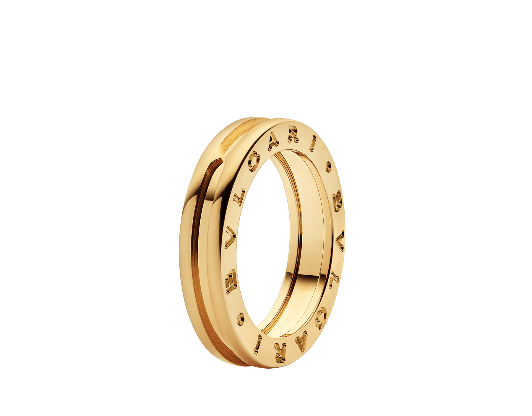 B.zero1 one-band ring in 18 kt yellow gold. B-zero1-1-bands-AN852260 image 1