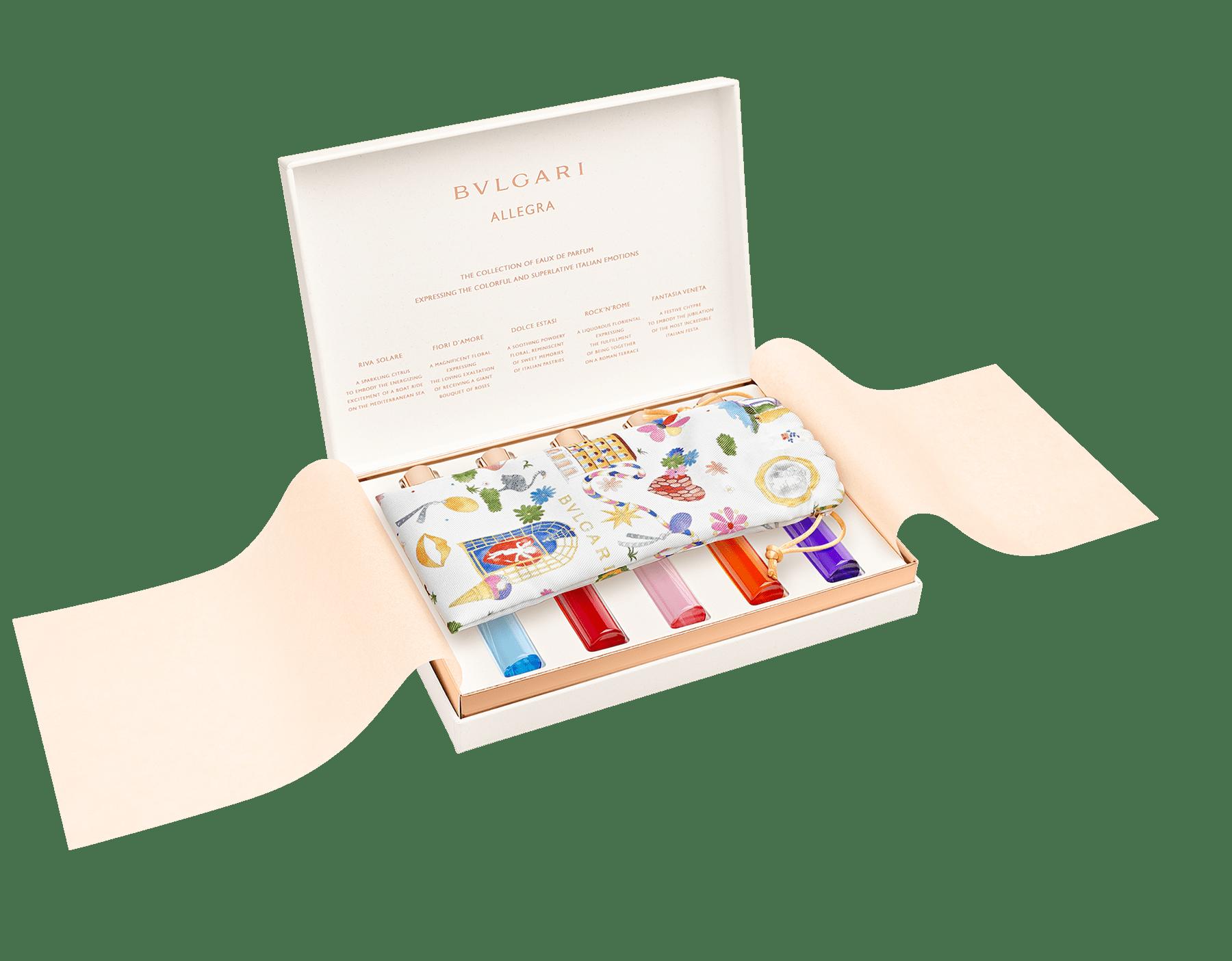 Das BVLGARI Allegra Kennenlern-Set umfasst fünf ausgewählte Eaux de Parfum, die für jeweils für ein intensives italienisches Gefühl stehen. 41291 image 2