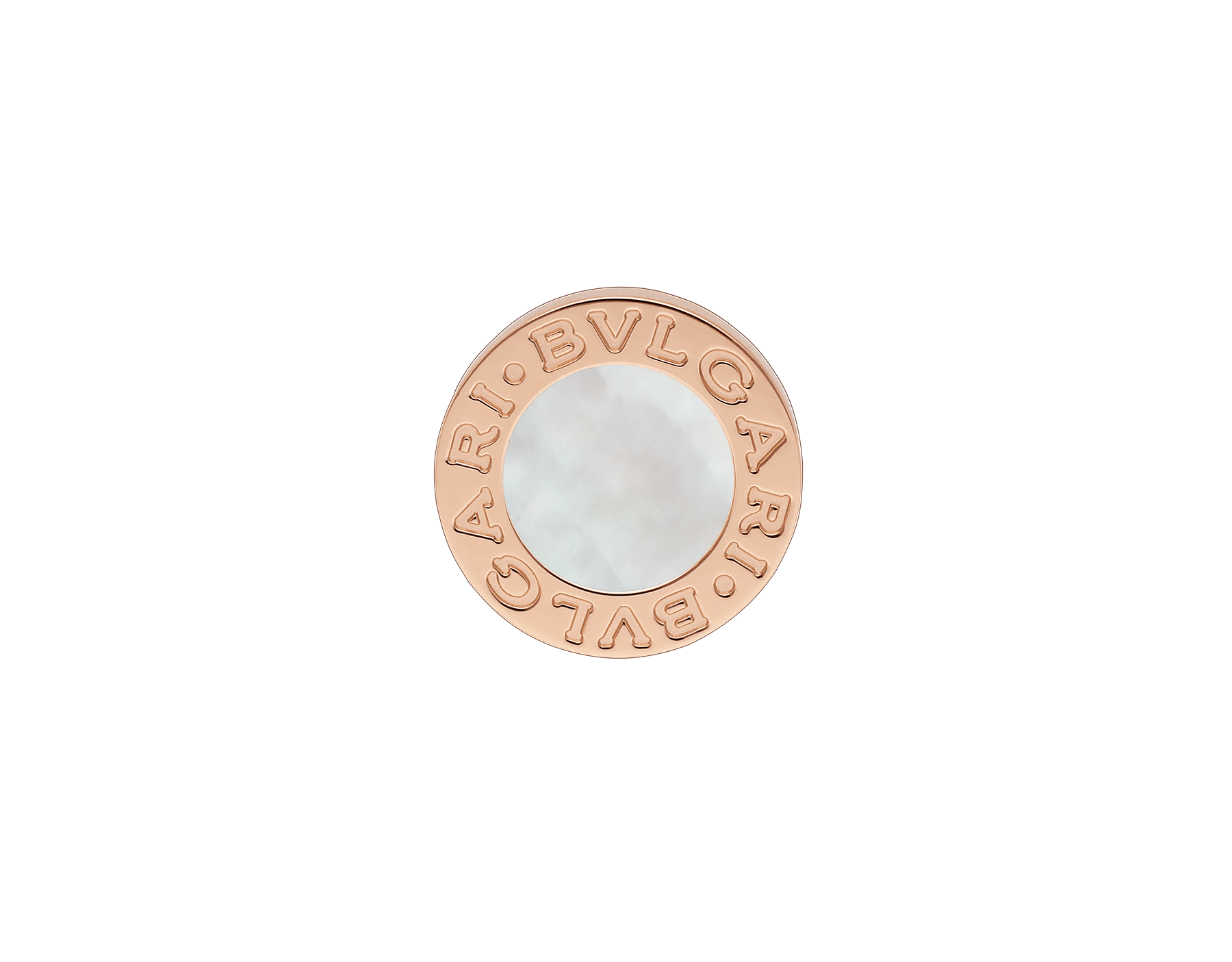 BVLGARI BVLGARI 18 kt rose gold single stud earring with mother-of-pearl 354732 image 1