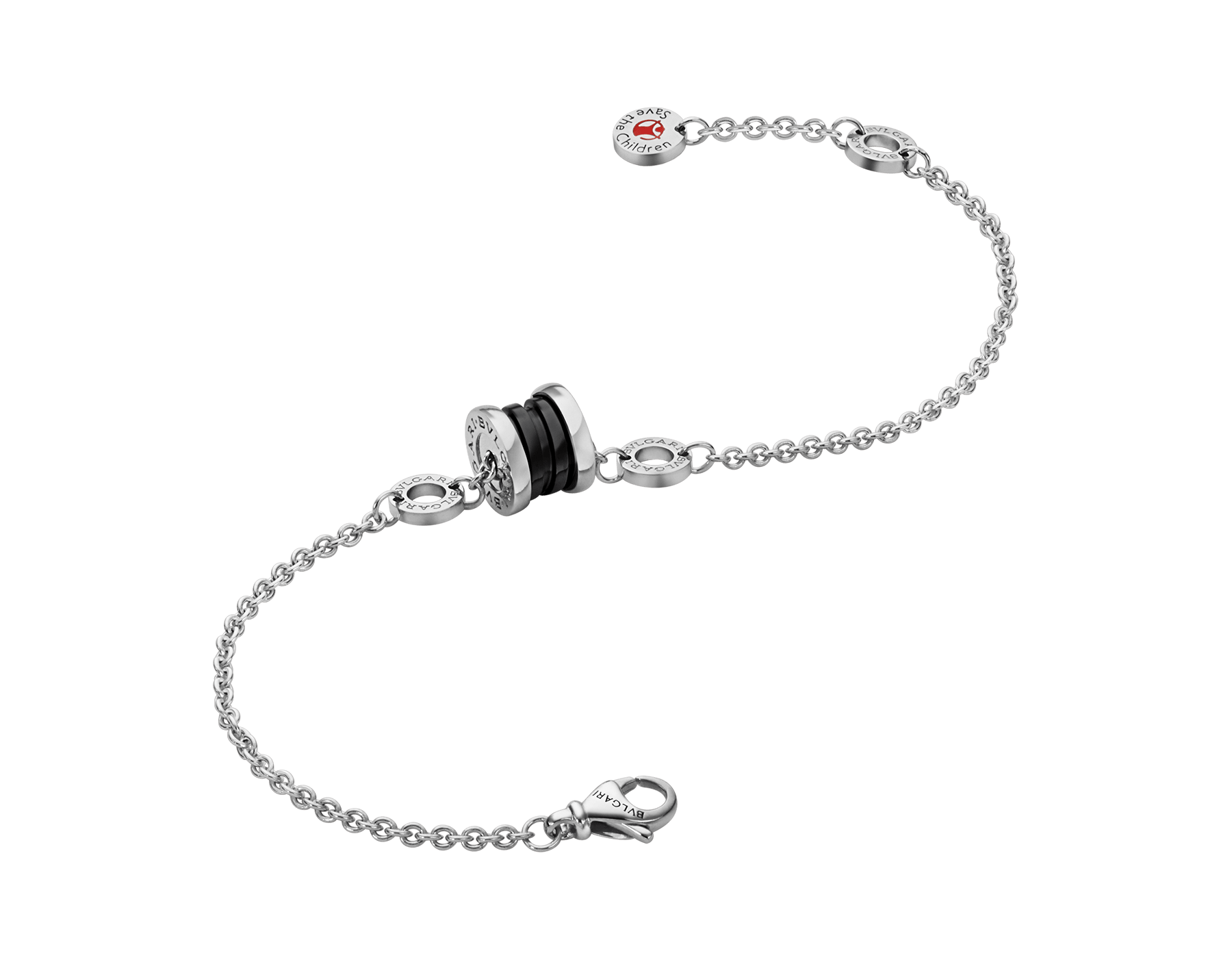 Save The Children bracelet in sterling silver and black ceramic BR857428 image 2