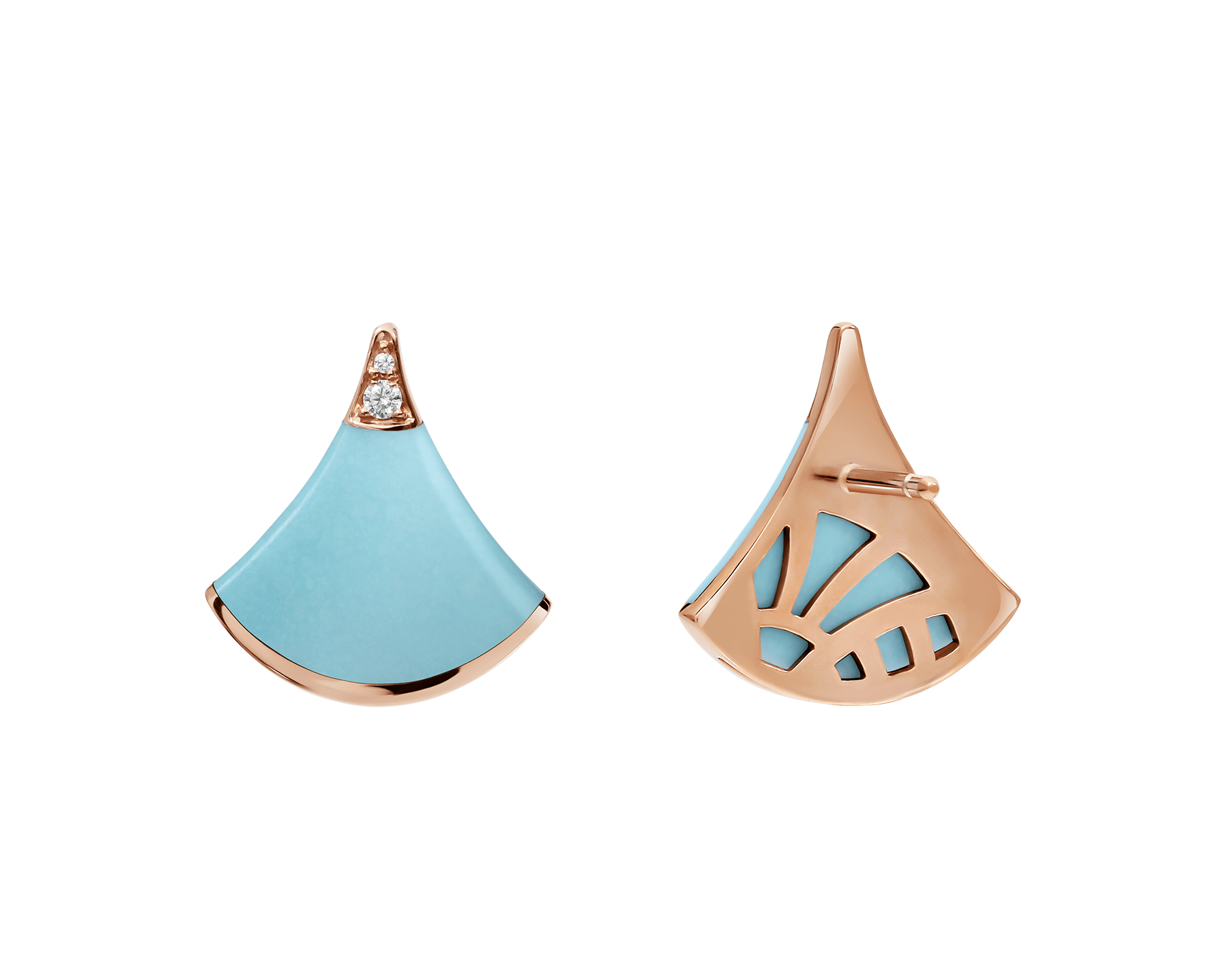 Celebrating both charismatic colours and the essence of feminine beauty, the DIVAS' DREAM earrings shine with the brilliance of turquoise, refined with a delicate diamond sparkle. 353036 image 3