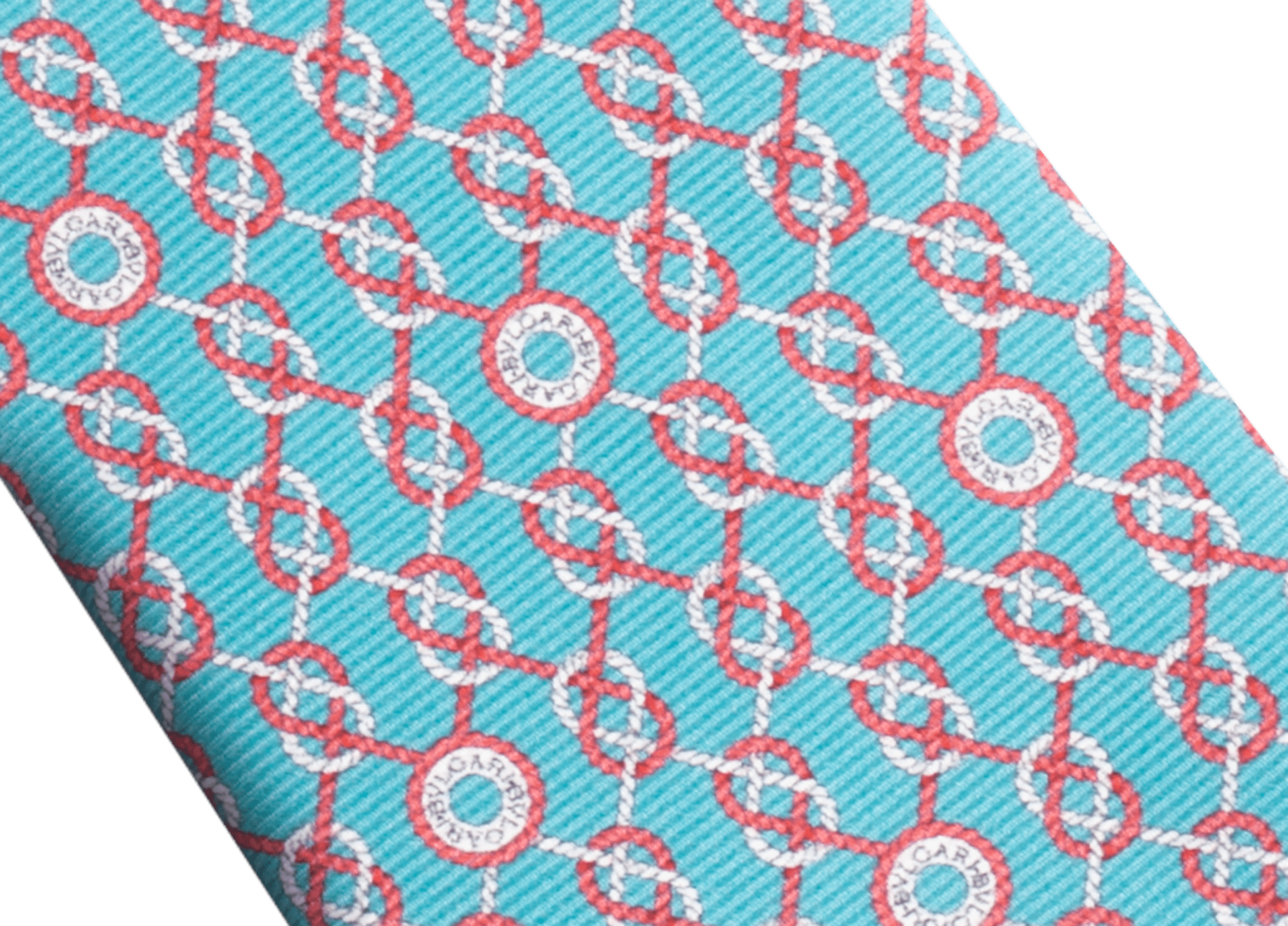Arctic Jade Sailor Logo pattern seven-fold tie in fine saglione printed silk. 244198 image 2