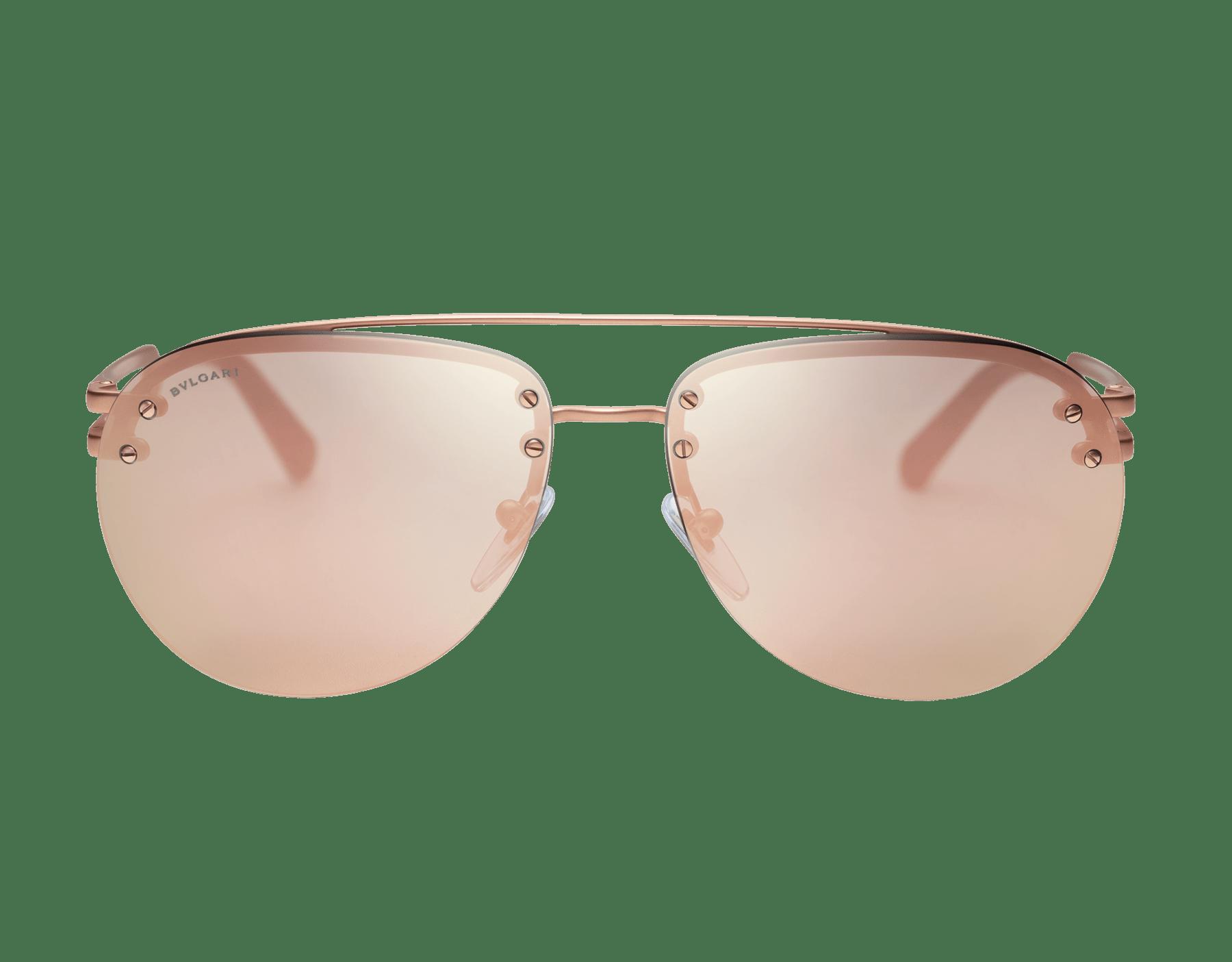 Bvlgari Bvlgari Sonnenbrille aus Metall in Pilotenform mit Doppelsteg. 904043 image 2