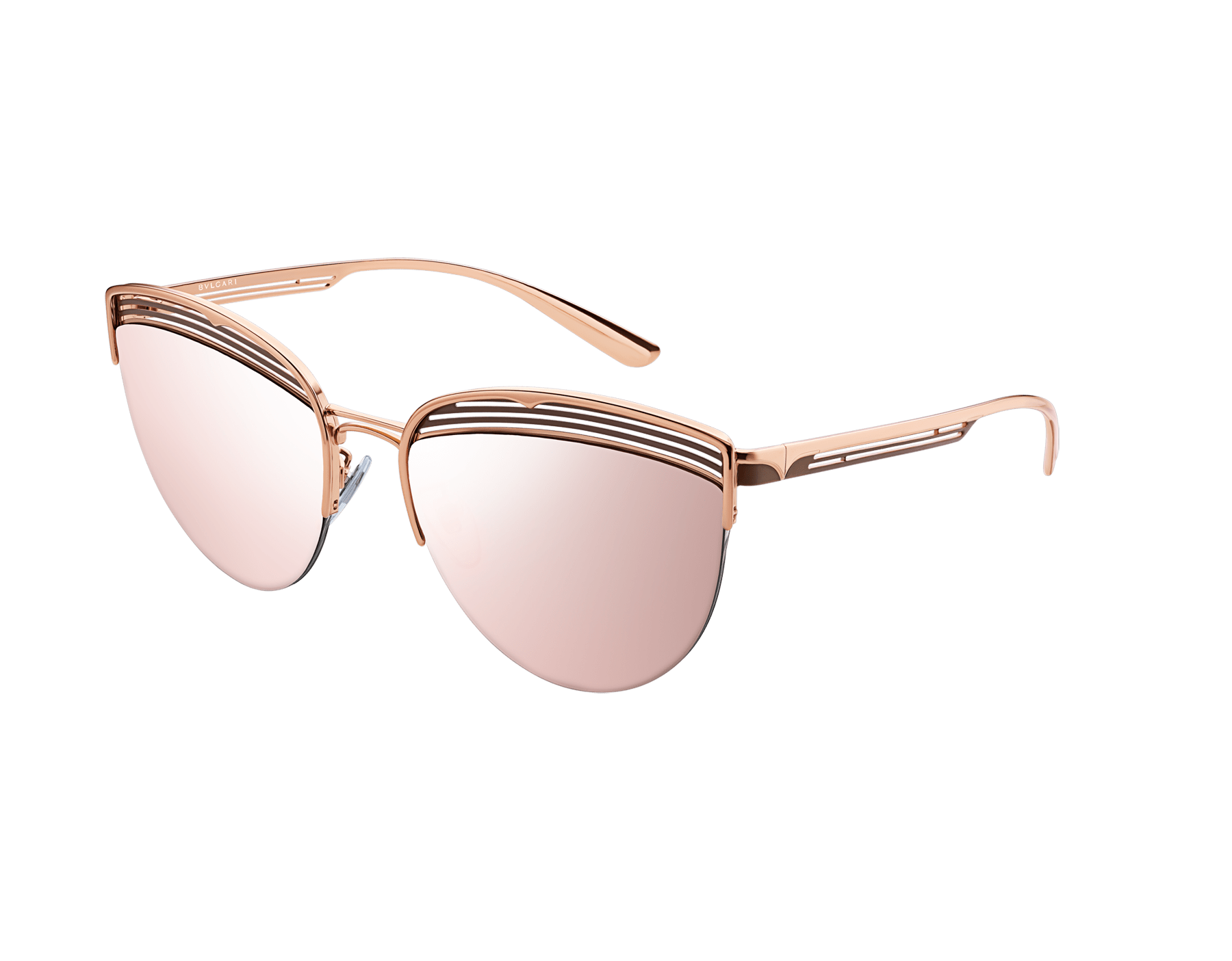 Bvlgari B.zero1 B.purevibes semi-rimless cat-eye metal sunglasses. 903717 image 1