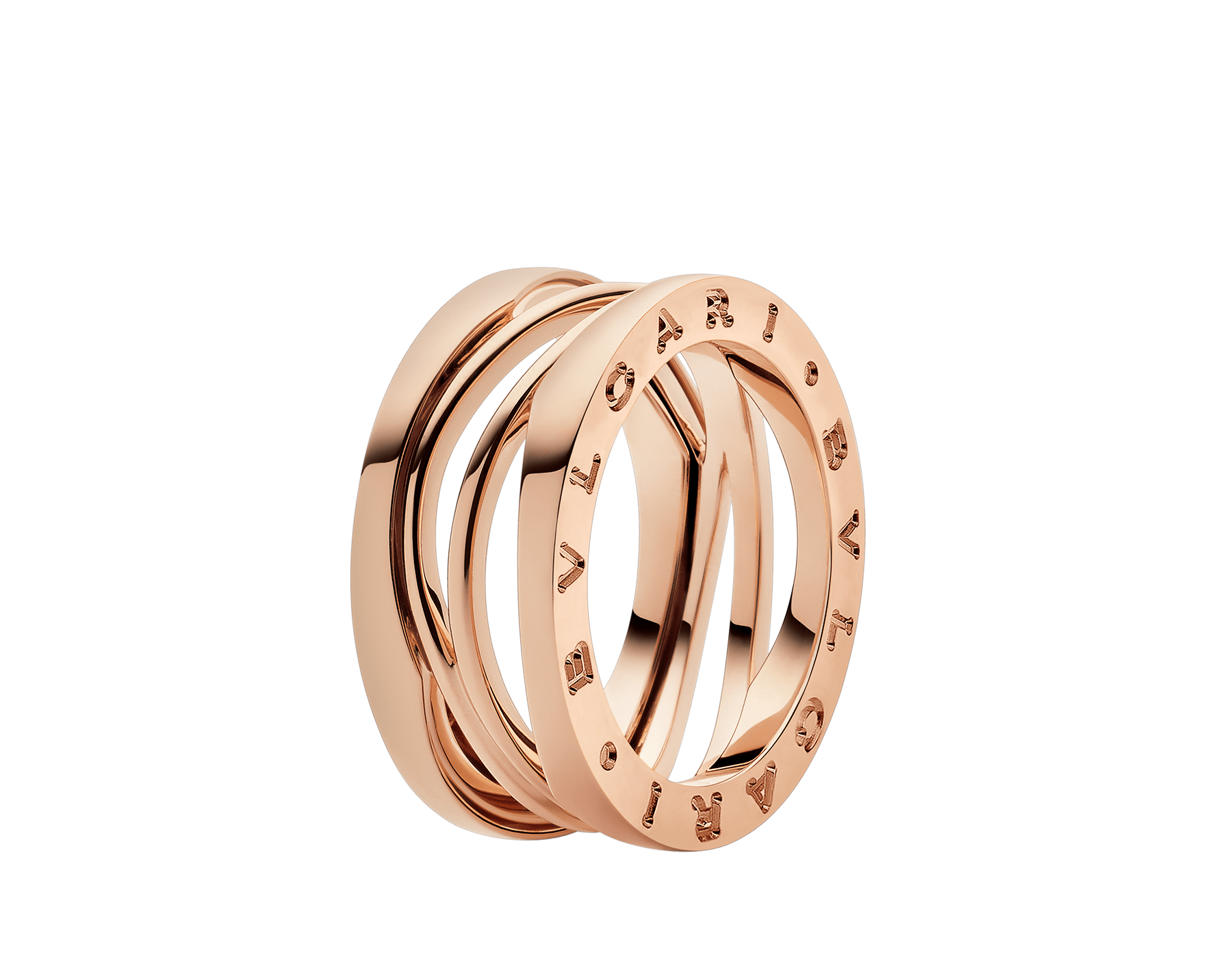 B.zero1 Design Legend three-band ring in 18 kt rose gold. B-zero1-3-bands-AN858029 image 1