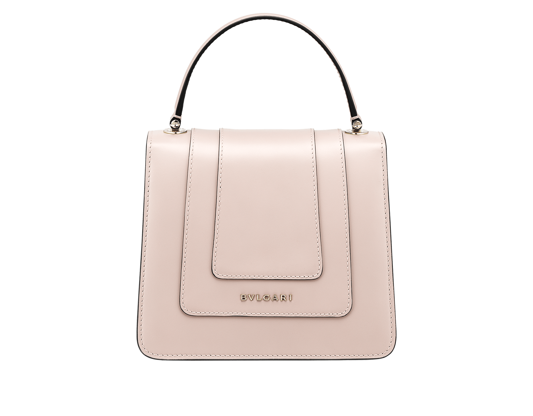 """Serpenti Forever"" crossbody bag in crystal rose calf leather. Iconic snakehead closure in light gold plated brass enriched with black and white enamel and green malachite eyes 287030 image 3"