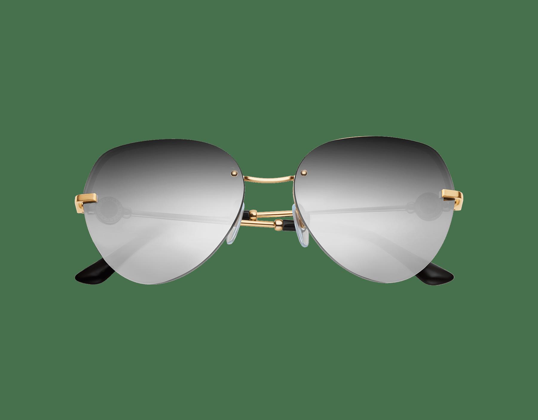 BVLGARI BVLGARI semi-rimless aviator sunglasses. 903538 image 2
