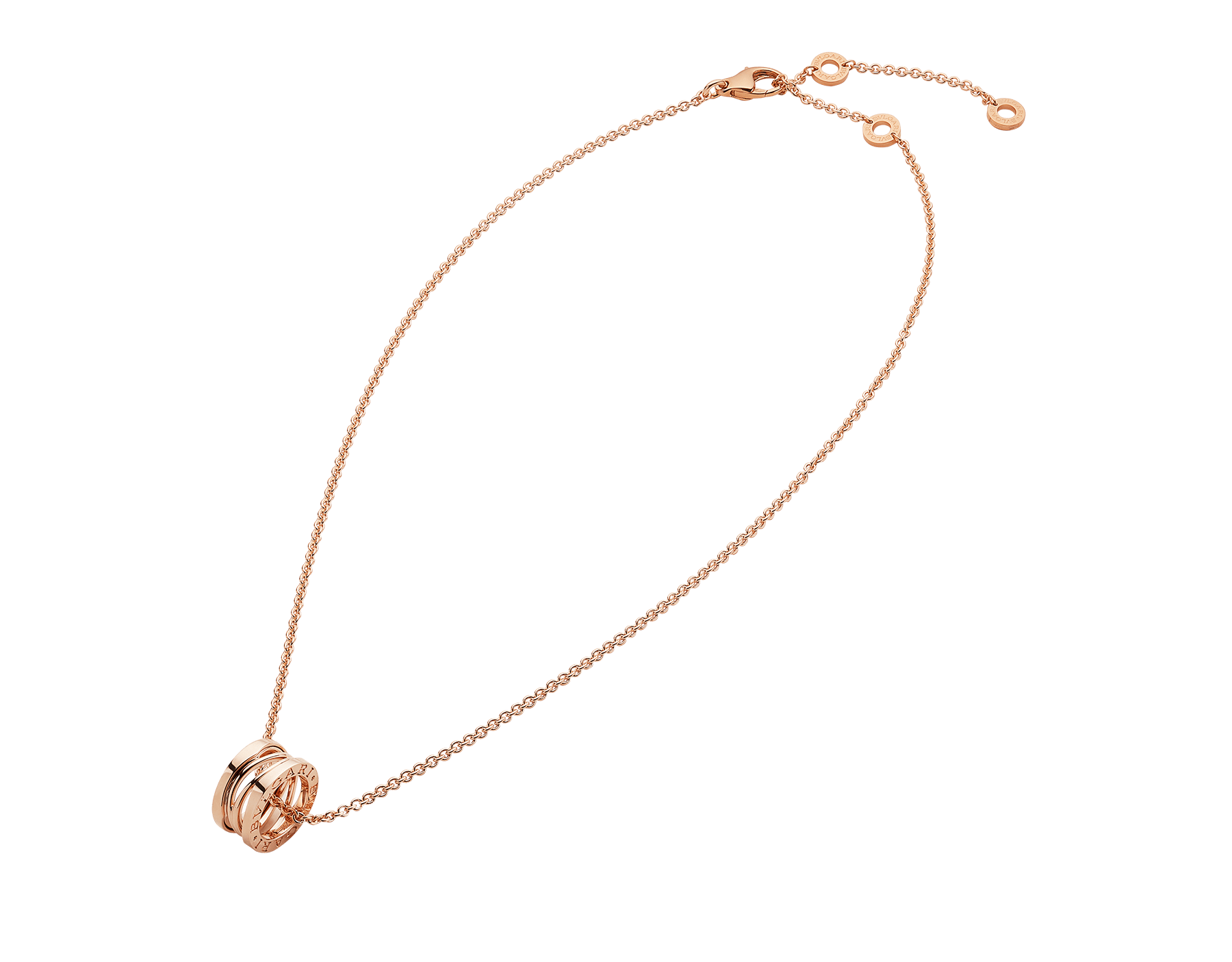 B.zero1 Design Legend necklace with pendant, both in 18 kt rose gold. 353795 image 2