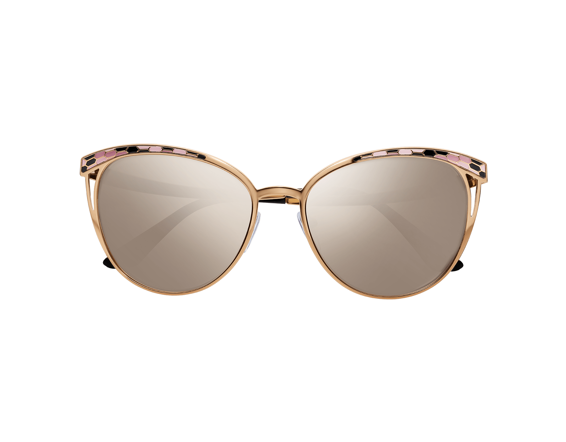 Serpenti 'Serpentine' contemporary cat-eye metal sunglasses. 903287 image 2