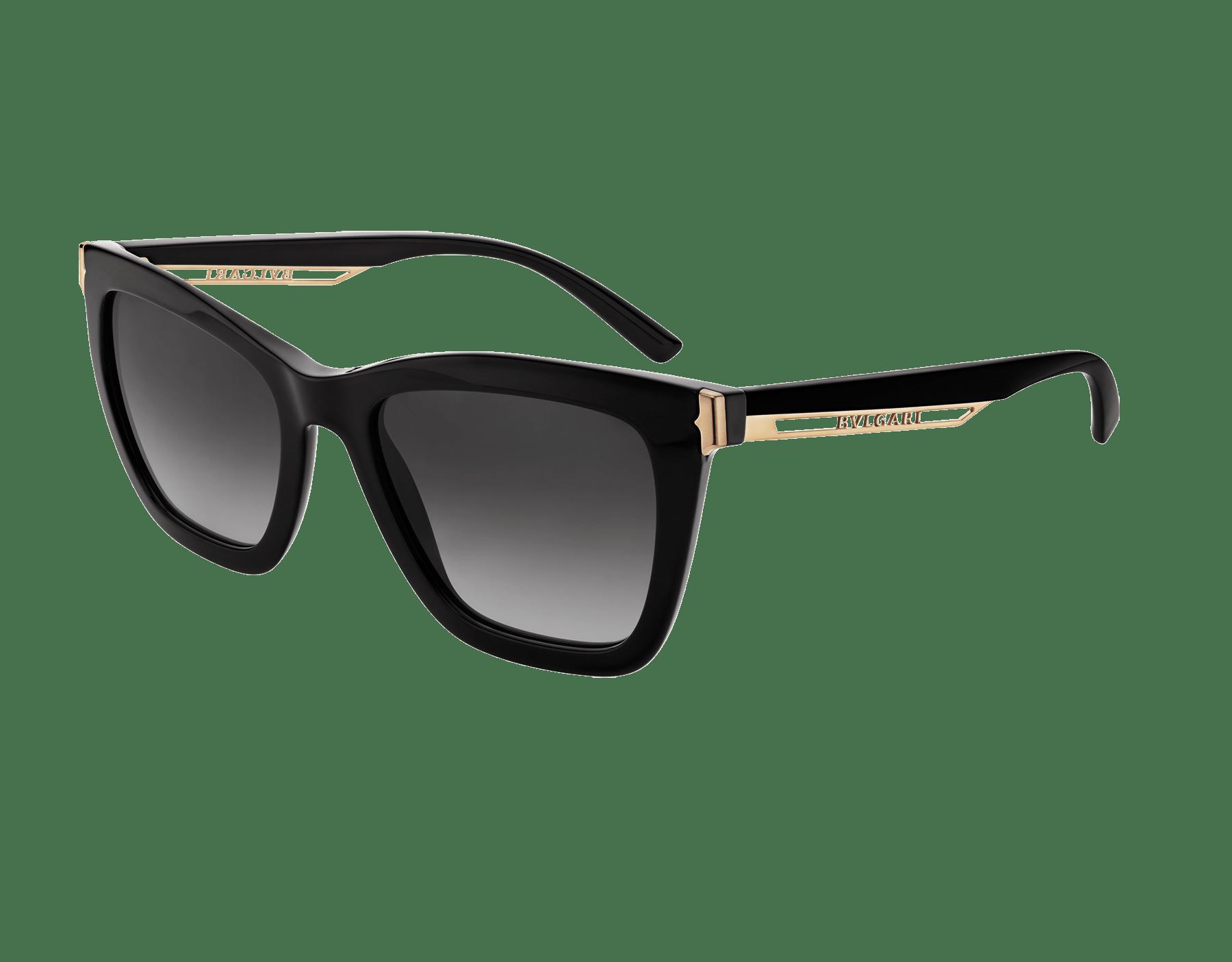 """Óculos de sol B.zero1 """"Downtown"""" retangular em acetato 904074 image 1"""