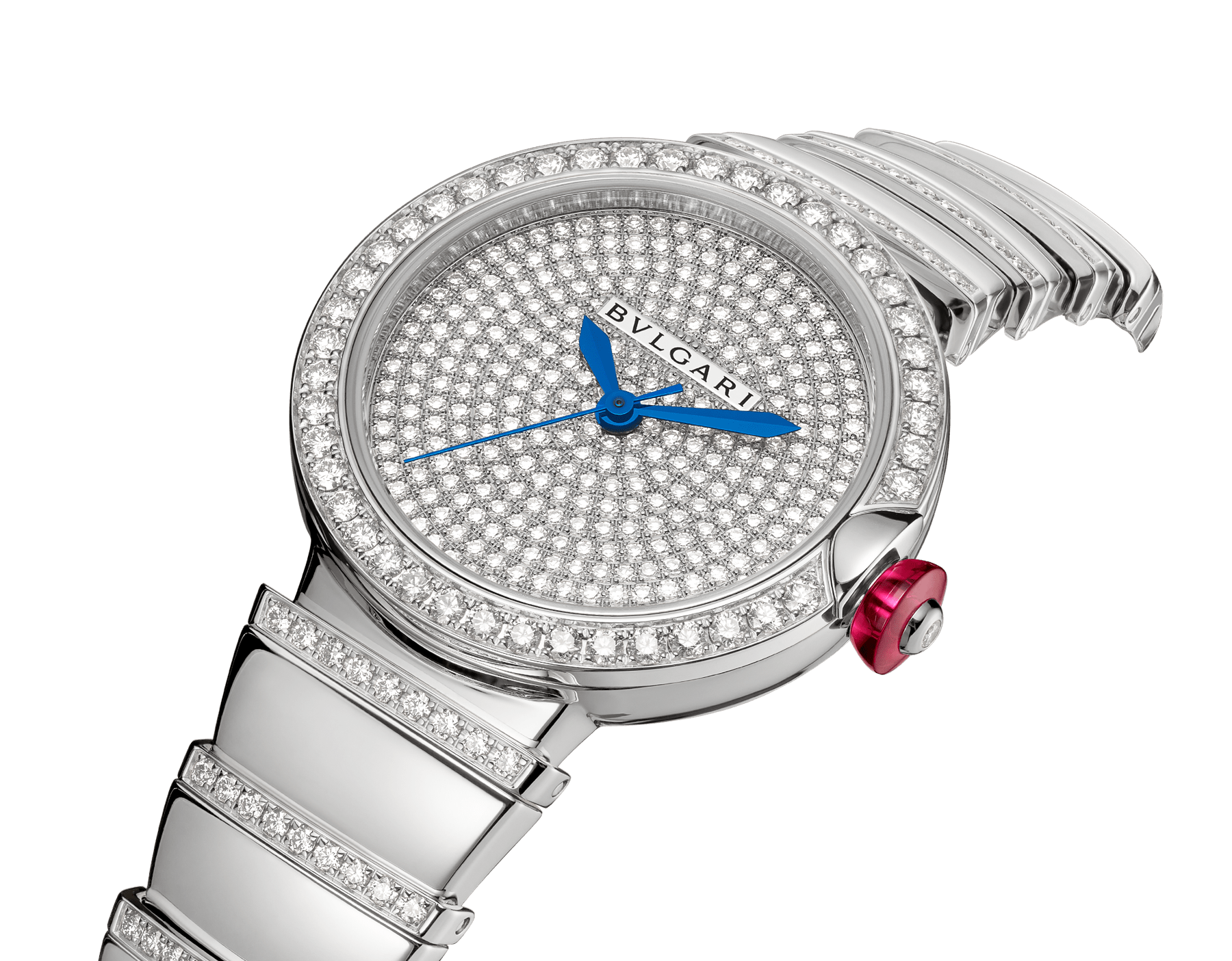 LVCEA watch in 18 kt white gold and brilliant-cut diamond case and bracelet, with full pavé diamond dial. 102380 image 2