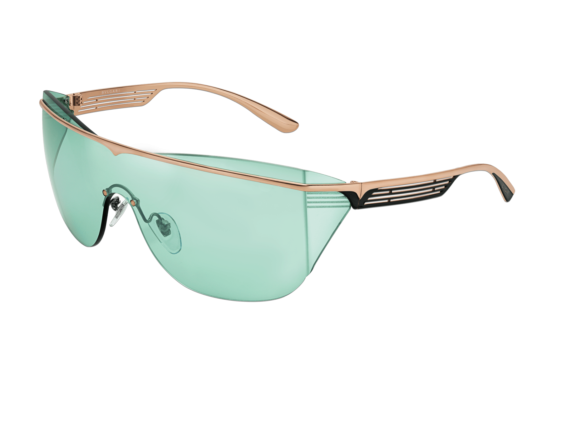 Bulgari B.zero1 B.supercurve metal shield sunglasses. 903967 image 1