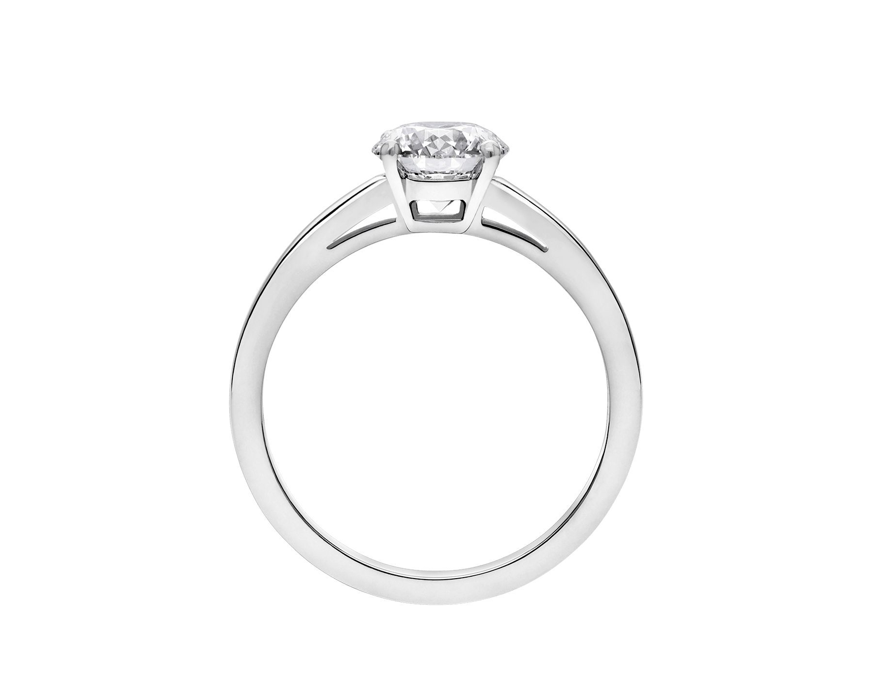 Griffe solitaire ring in platinum with round brilliant cut diamond AN201215 image 4