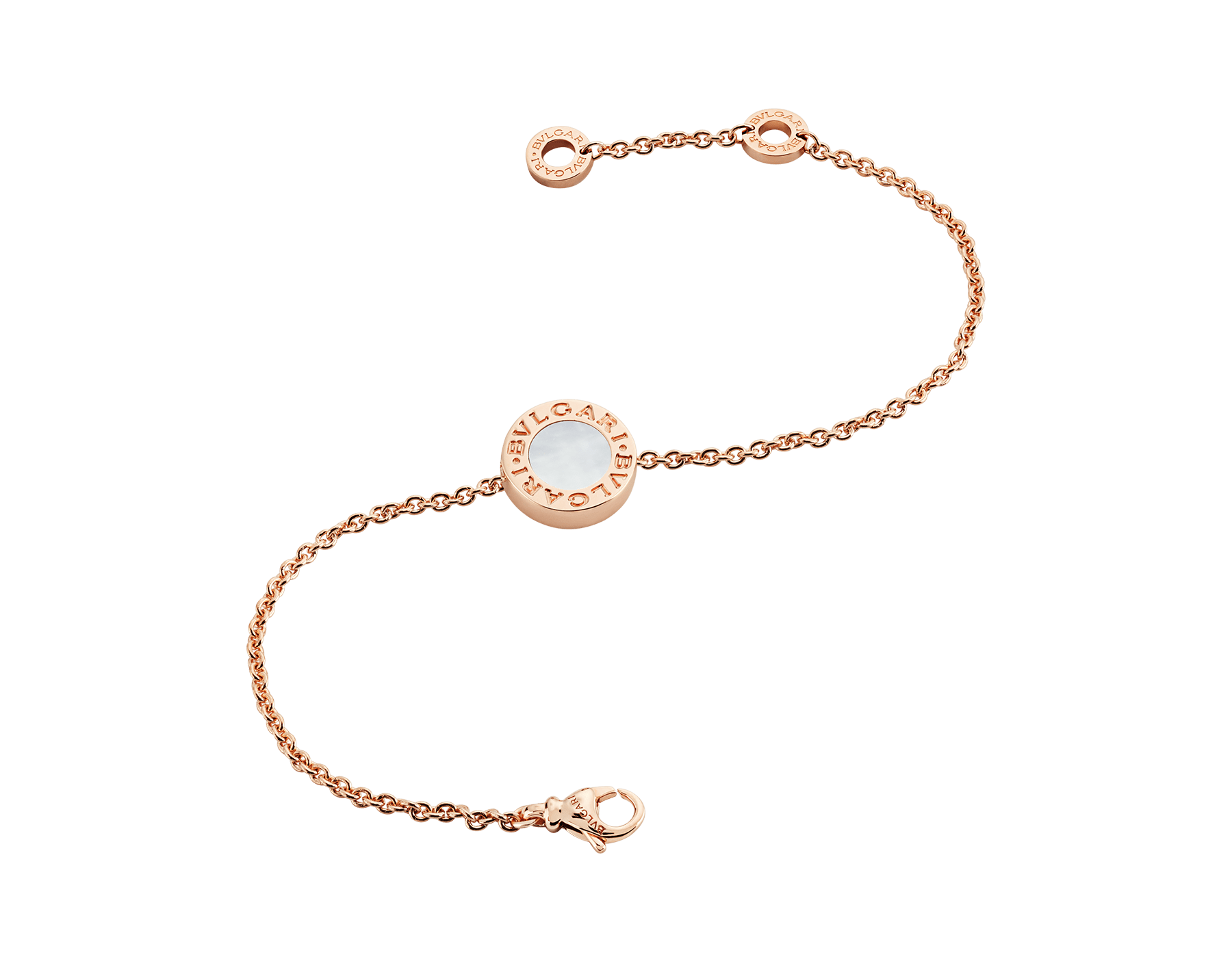 BVLGARI BVLGARI bracelet in 18 kt rose gold set with carnelian and mother-of-pearl round inserts. BR858008 image 2
