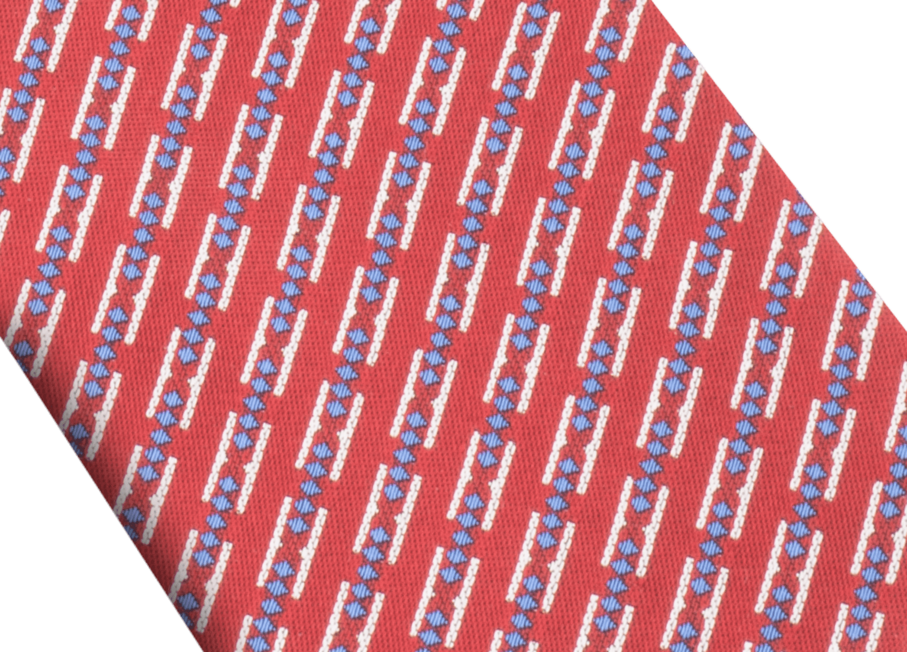 "Red ""Double BZero3D"" double-faced tie in fine silk. DOUBLEBZERO3D image 2"