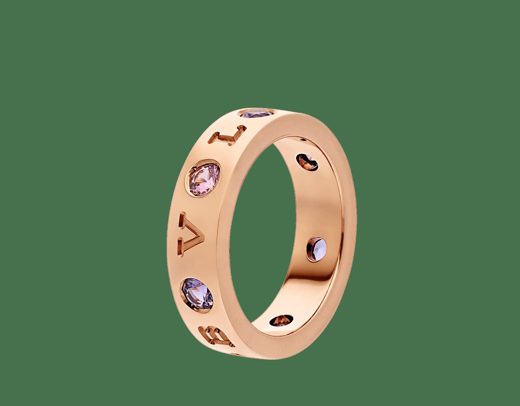 BVLGARI BVLGARI 18 kt rose gold ring set with amethysts and pink tourmalines AN857669 image 1