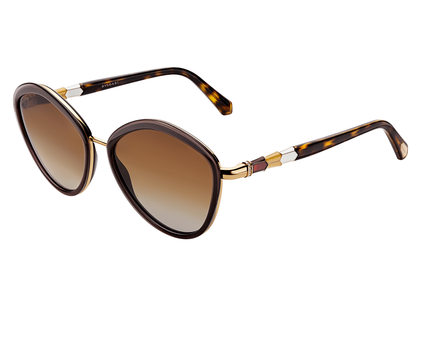 Bulgari Serpenti rounded metal sunglasses. 903984 image 1