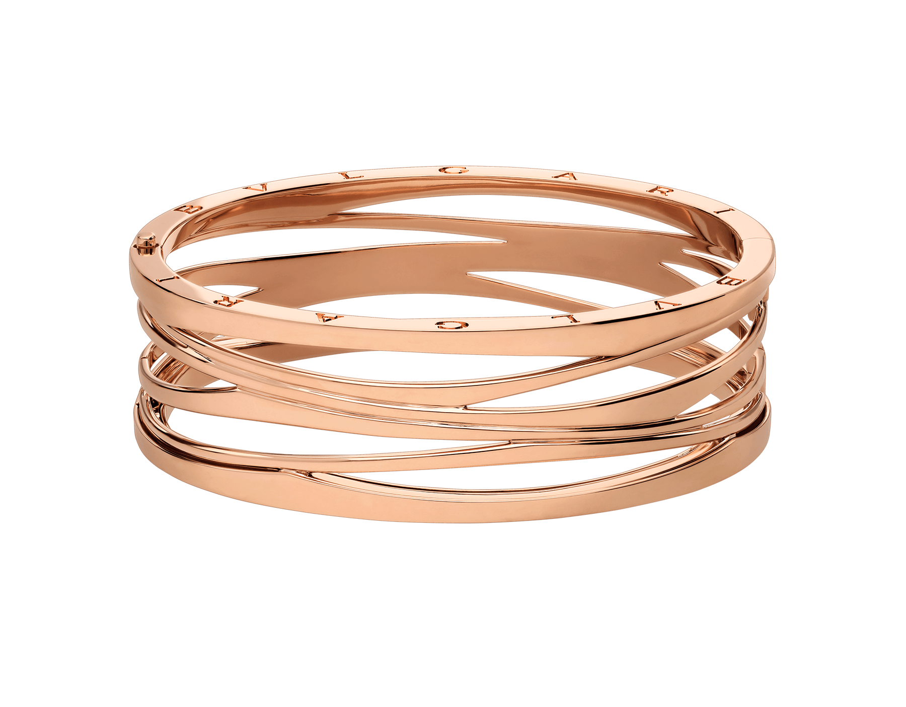 B.zero1 Design Legend bangle bracelet in 18 kt rose gold. BR858070 image 2