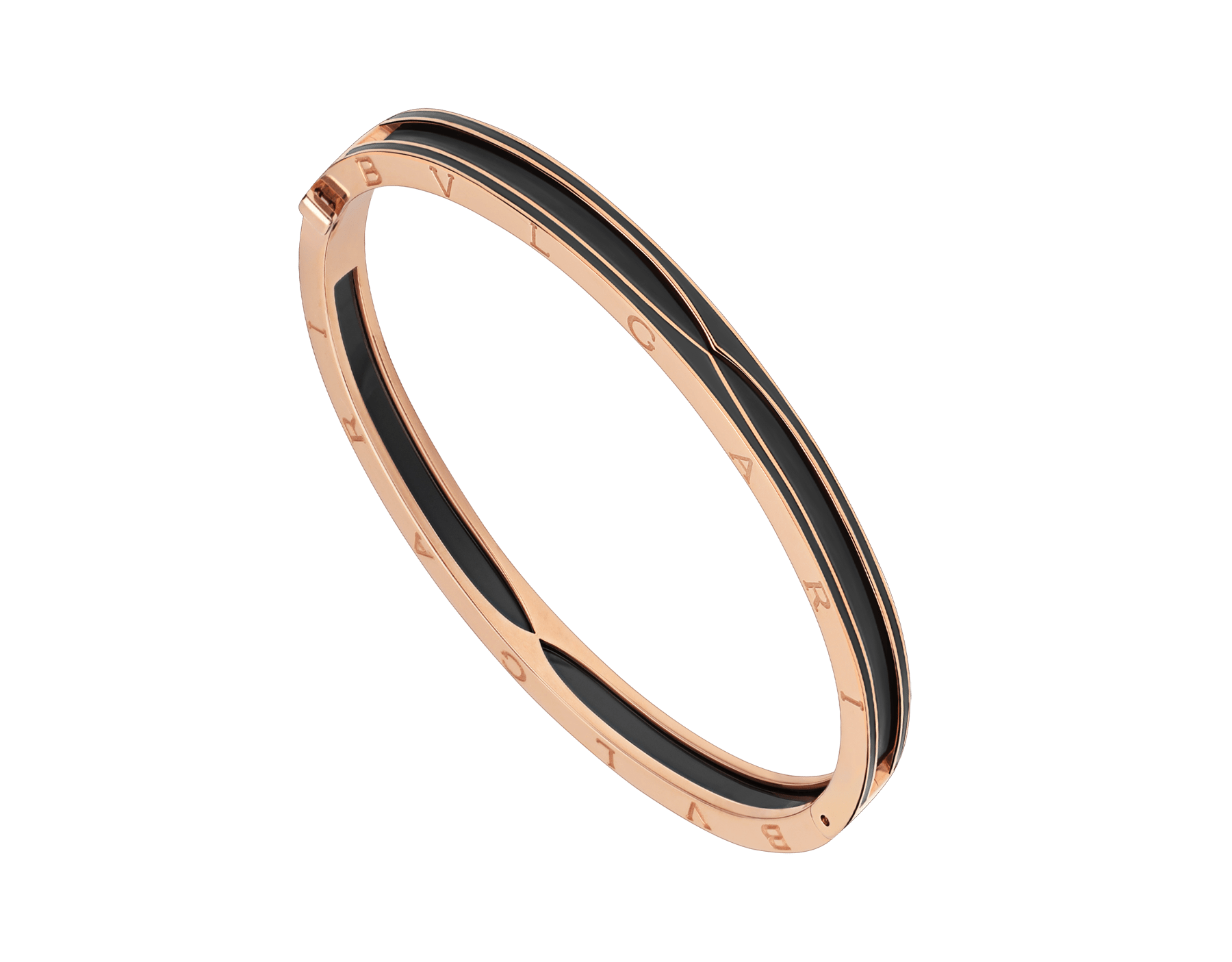 B.zero1 bracelet in 18 kt rose gold with matte black ceramic BR859063 image 1
