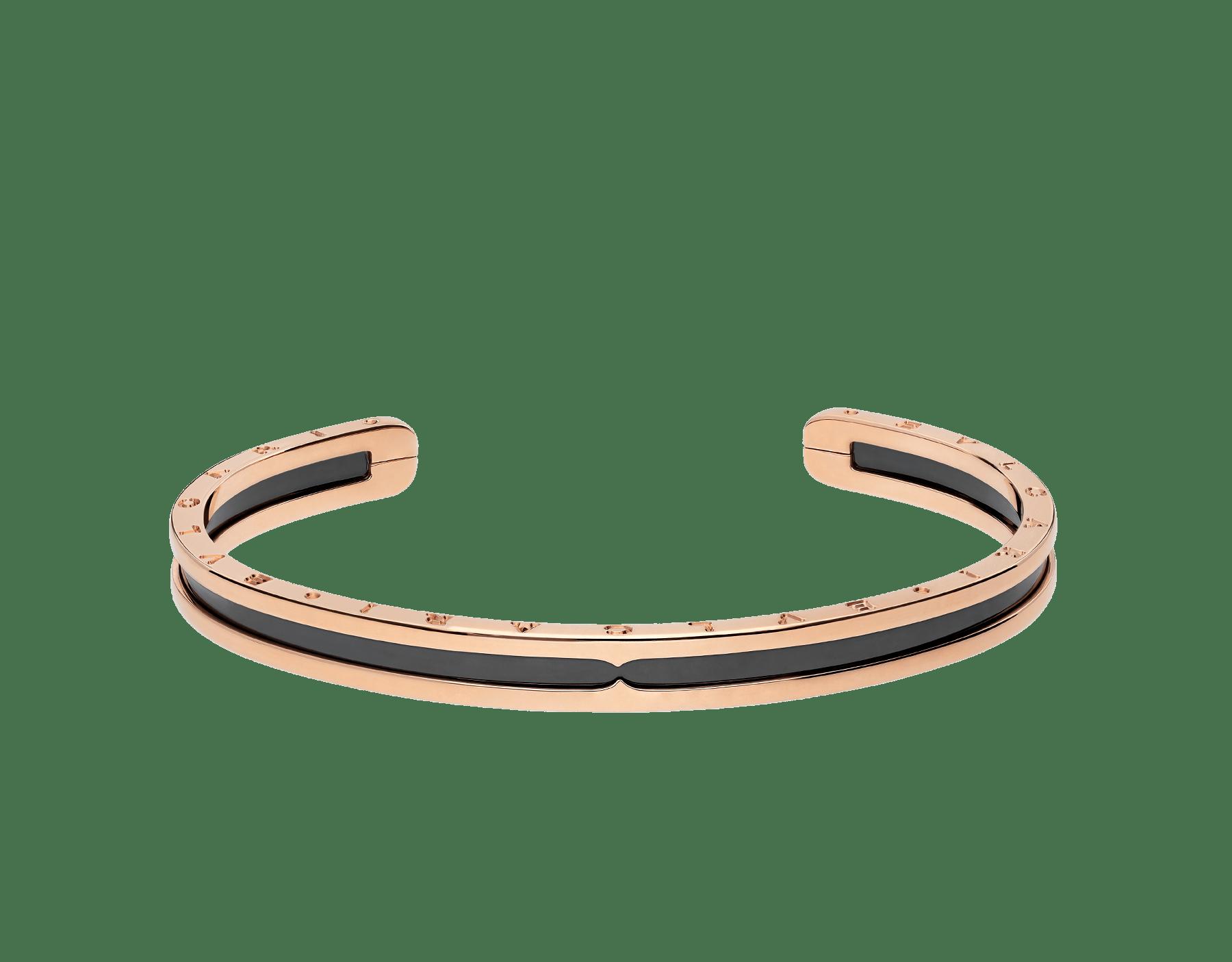 Pulsera B.zero1 en oro rosa de 18 qt y acero con tratamiento DLC (Diamond Like Carbon, carbono diamantino). BR855712 image 2