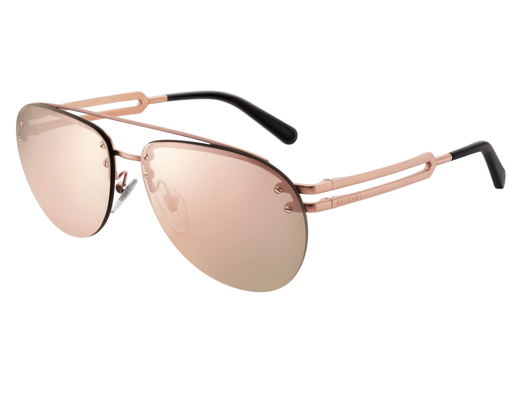 Bvlgari Bvlgari Sonnenbrille aus Metall in Pilotenform mit Doppelsteg. 904043 image 1