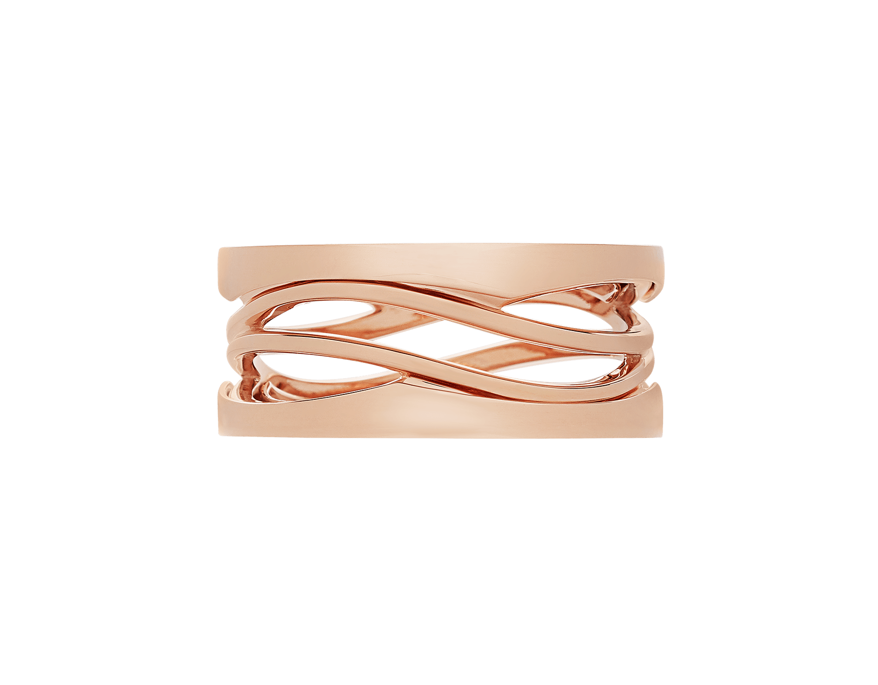 B.zero1 Design Legend three-band ring in 18 kt rose gold. B-zero1-3-bands-AN858029 image 3