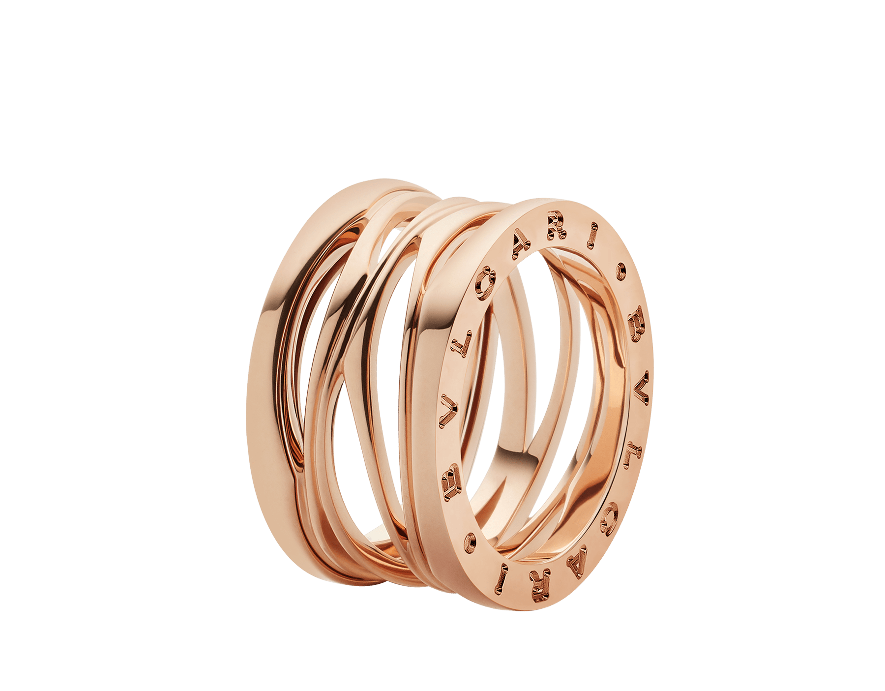 B.zero1 Design Legend four-band ring in 18 kt rose gold. B-zero1-4-bands-AN858030 image 1