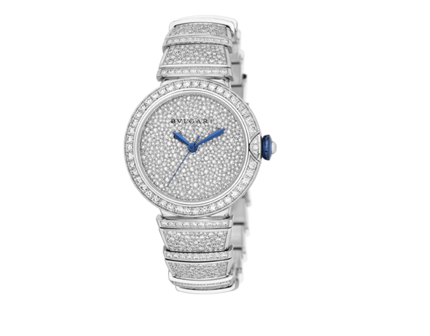 LVCEA watch in 18 kt white gold with brilliant-cut diamond set case and bracelet, and full pavé diamond dial. 102365 image 2