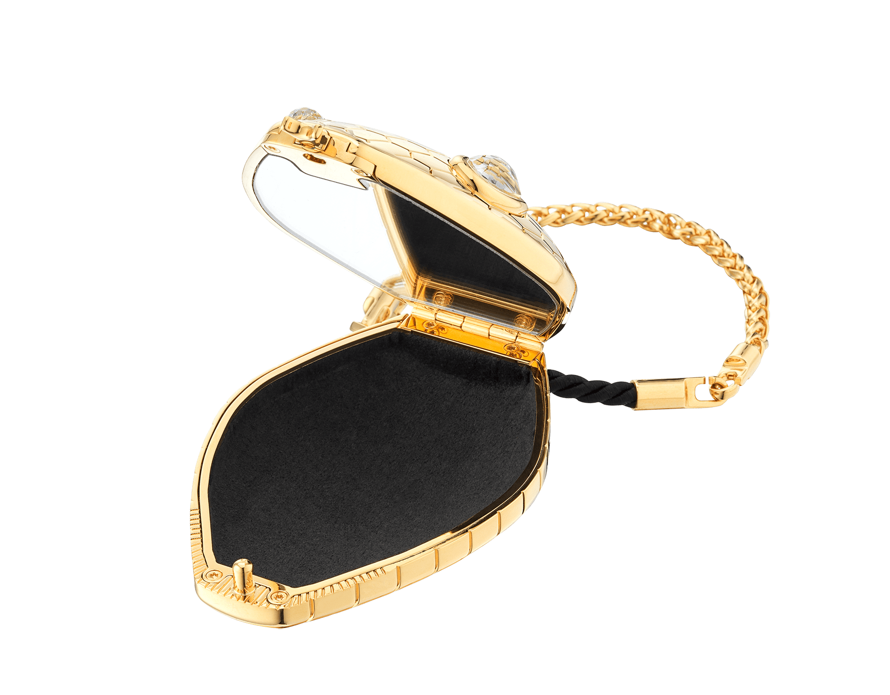 """""""Mary Katrantzou x Bvlgari"""" minaudière in gold-plated brass, finished with seductive crystal eyes. Special Edition. MK-1158 image 3"""