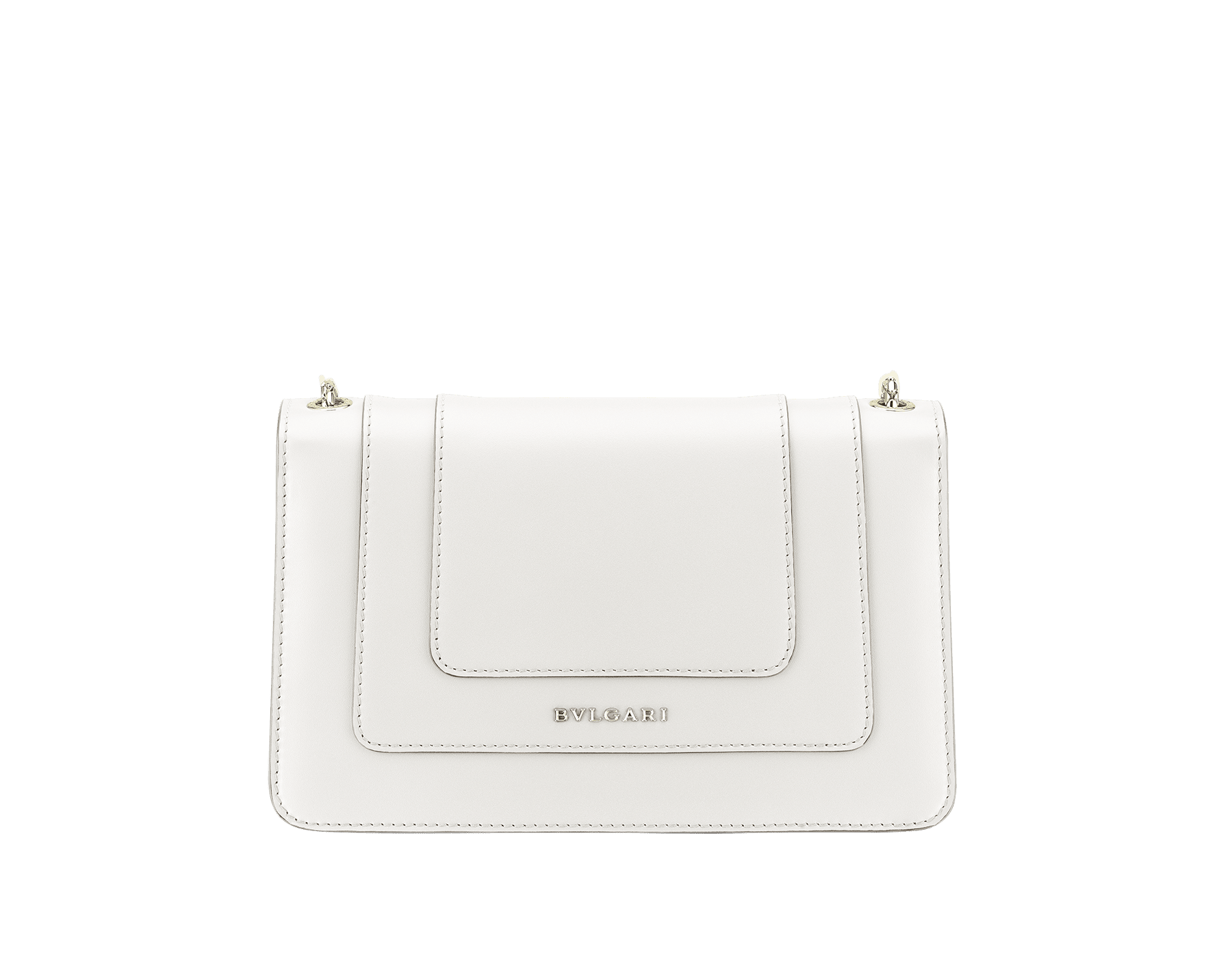 """Serpenti Forever"" crossbody bag in crystal rose calf leather. Iconic snakehead closure in light gold plated brass enriched with black and white enamel and green malachite eyes 625-CLa image 3"