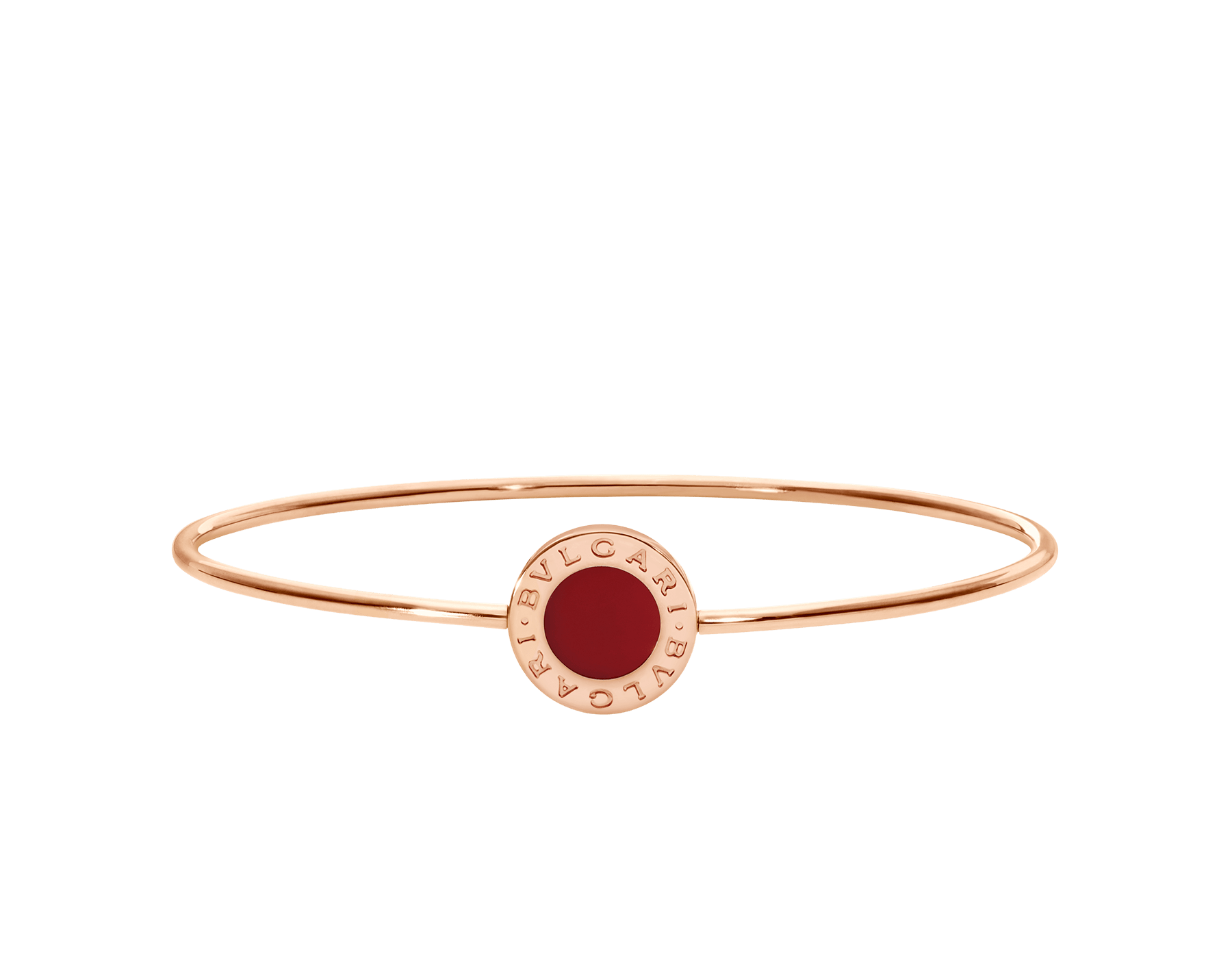 BVLGARI BVLGARI 18 kt rose gold bracelet set with carnelian element BR858697 image 2