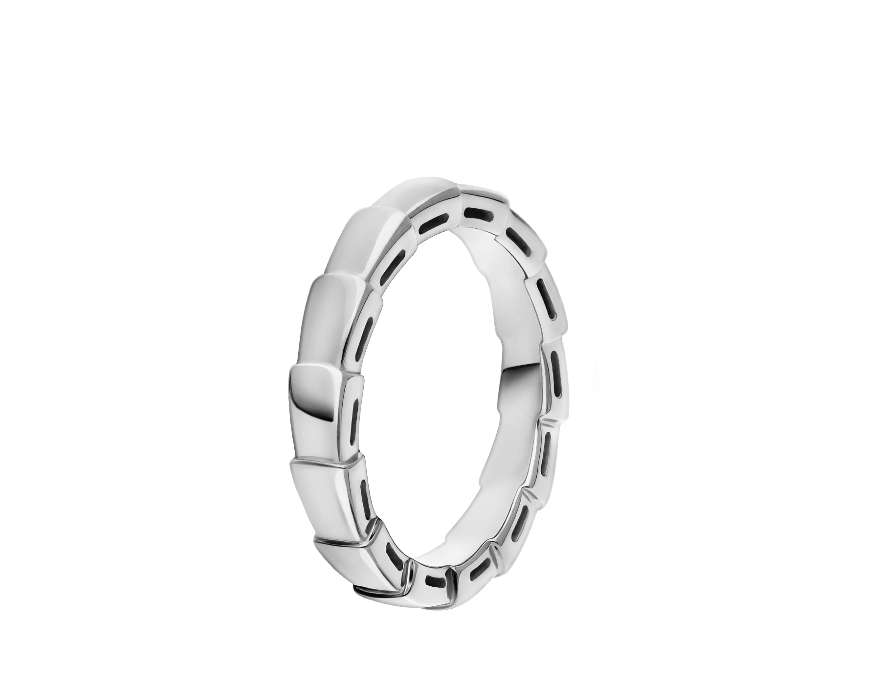 Serpenti Viper wedding band in 18 kt white gold. AN856869 image 1