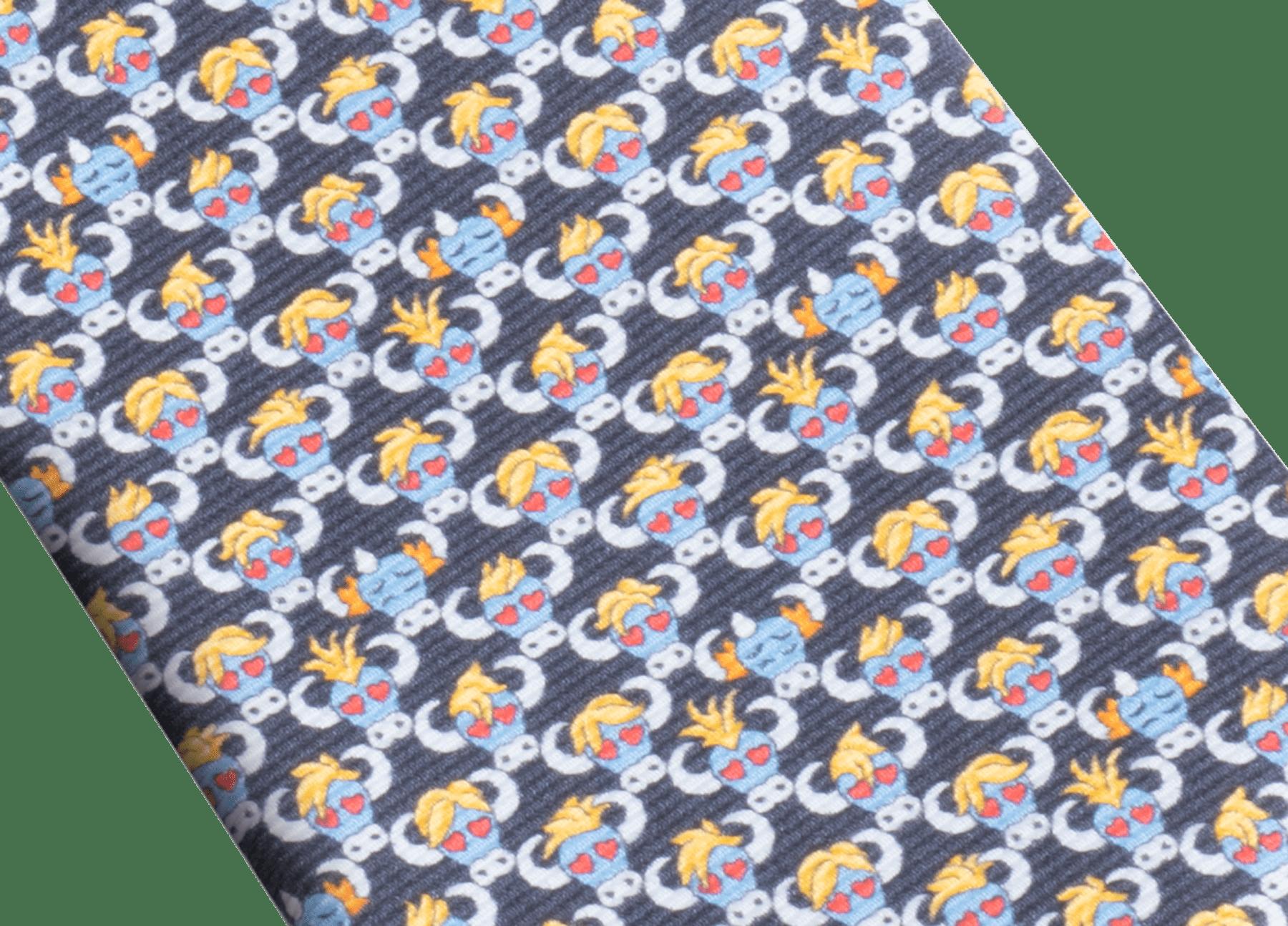イエローの「ソキシャル」セブンフォールドタイ。上質なサリオーネシルク製。 SOXIAL image 2