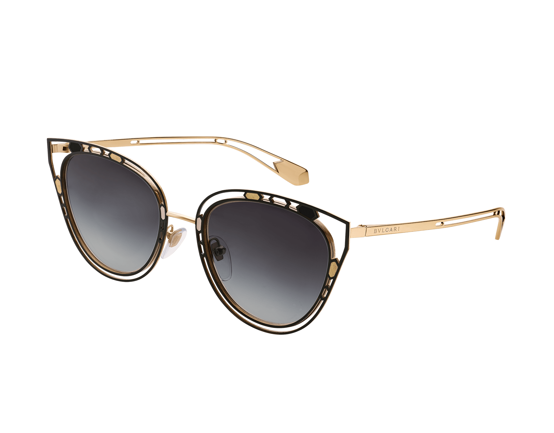 Serpenti 'Temptalicious' cat-eye metal frame with an openwork structure and colorful details. 903534 image 1