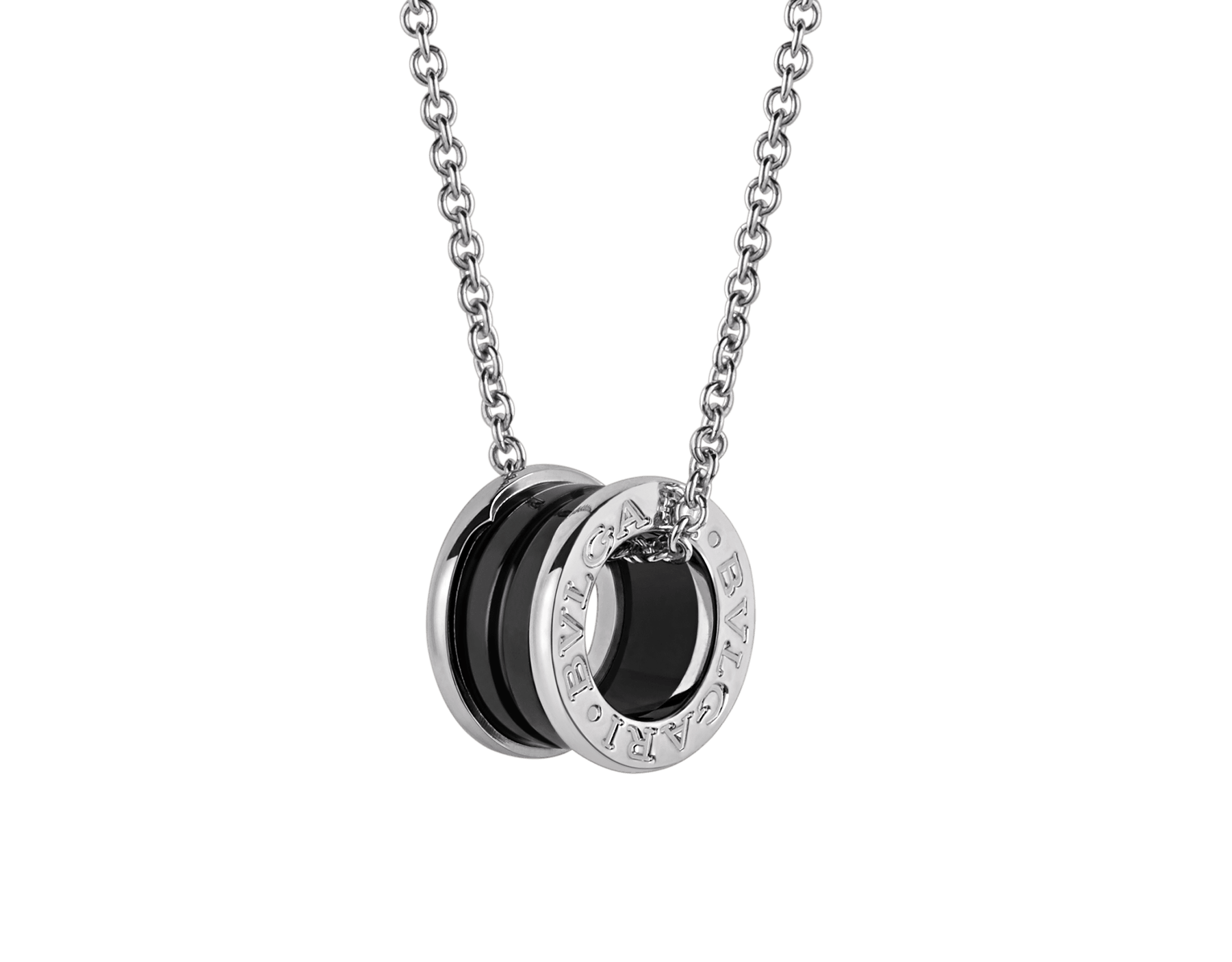 Save the Children necklace with sterling silver and black ceramic pendant, and sterling silver chain 349634 image 1