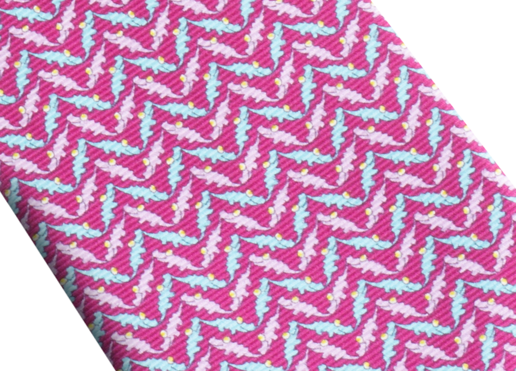 """Siebenfach gefaltete violette Krawatte mit """"Cocco Chevron""""-Muster aus feiner, bedruckter Saglione-Seide. 244093 image 2"""