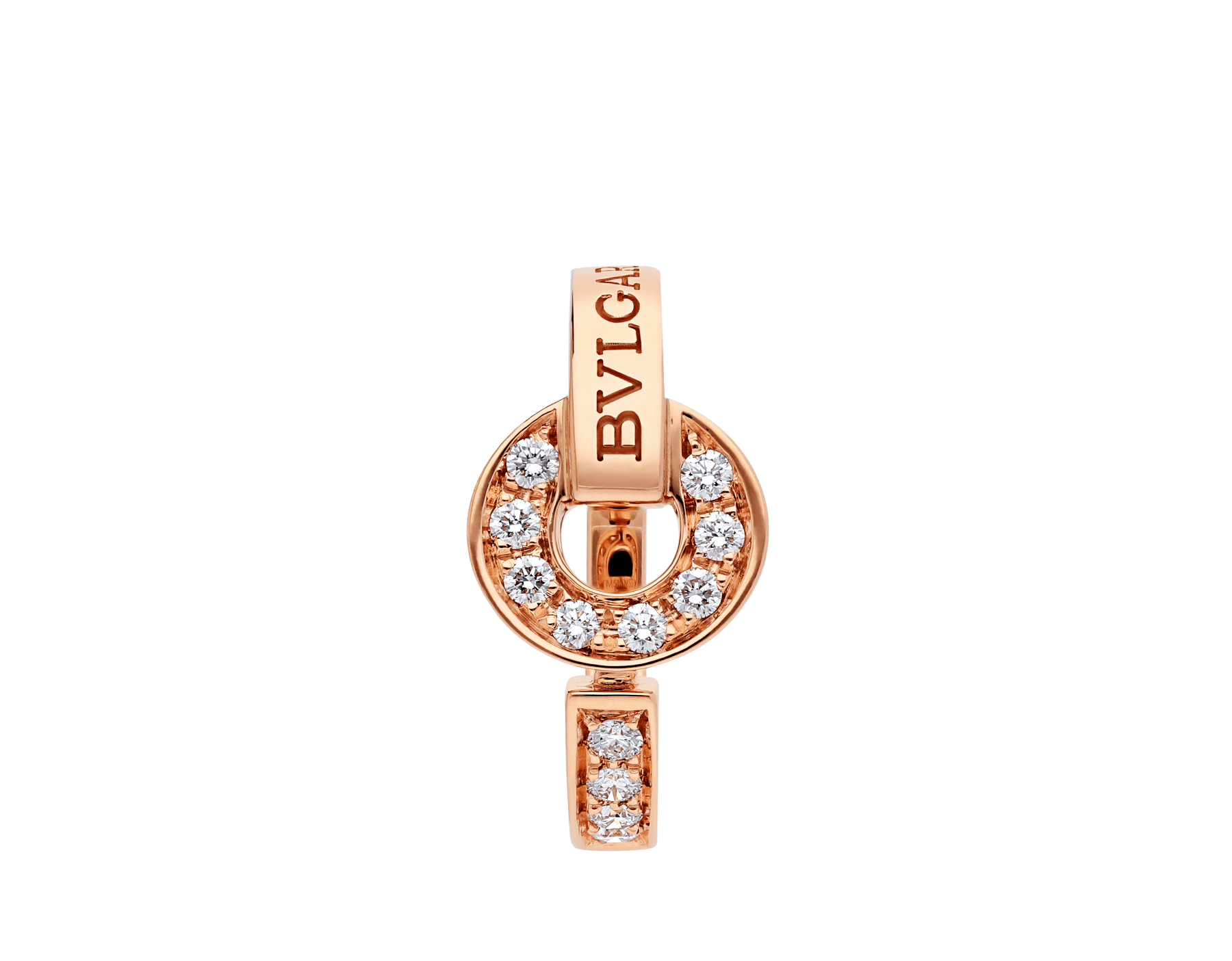 BVLGARI BVLGARI 18 kt rose gold ring set with pavé diamonds AN855854 image 2