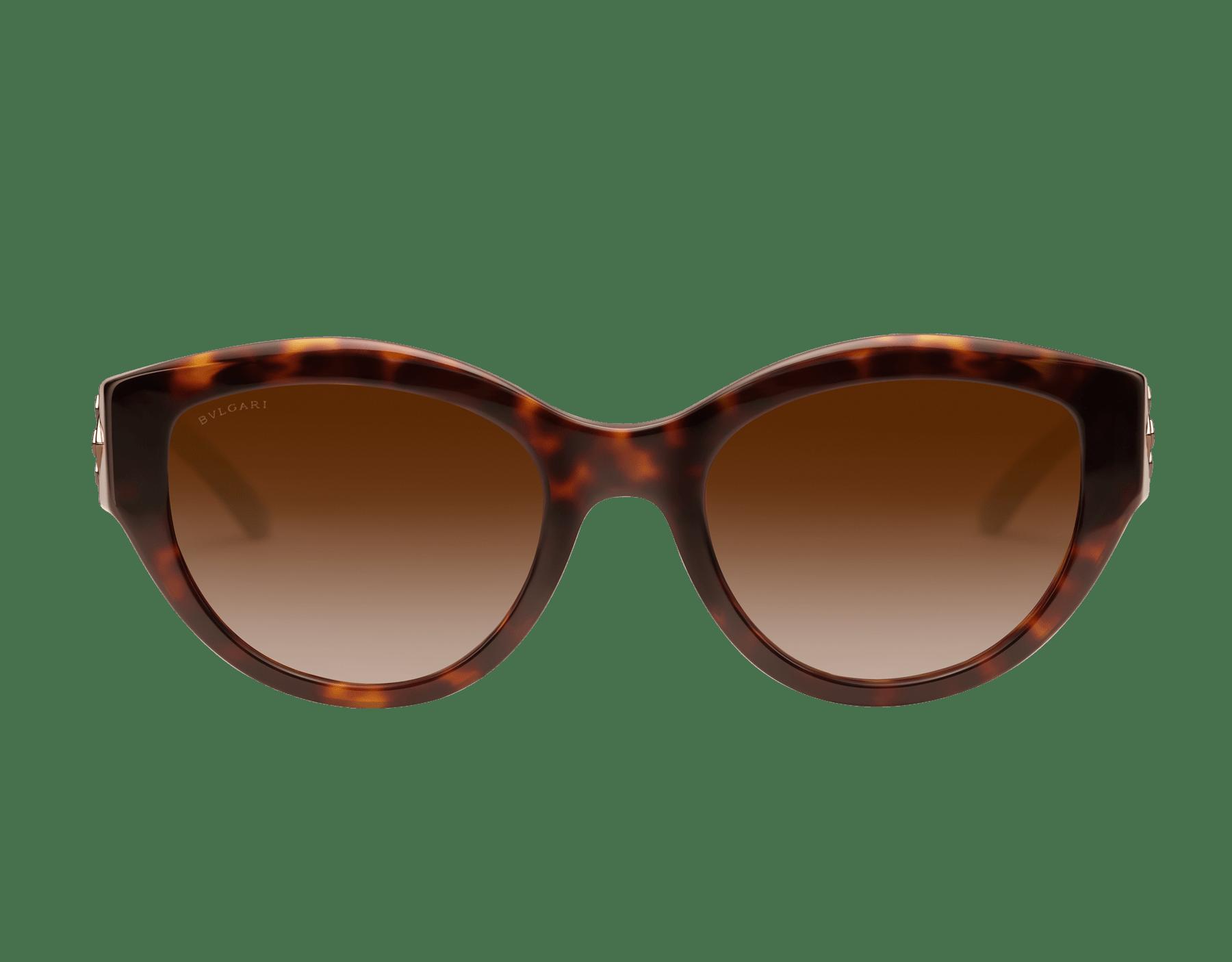 Serpenti brown 貓眼醋酸纖維太陽眼鏡,Serpenti 金屬元素飾以水晶。。 903846 image 2