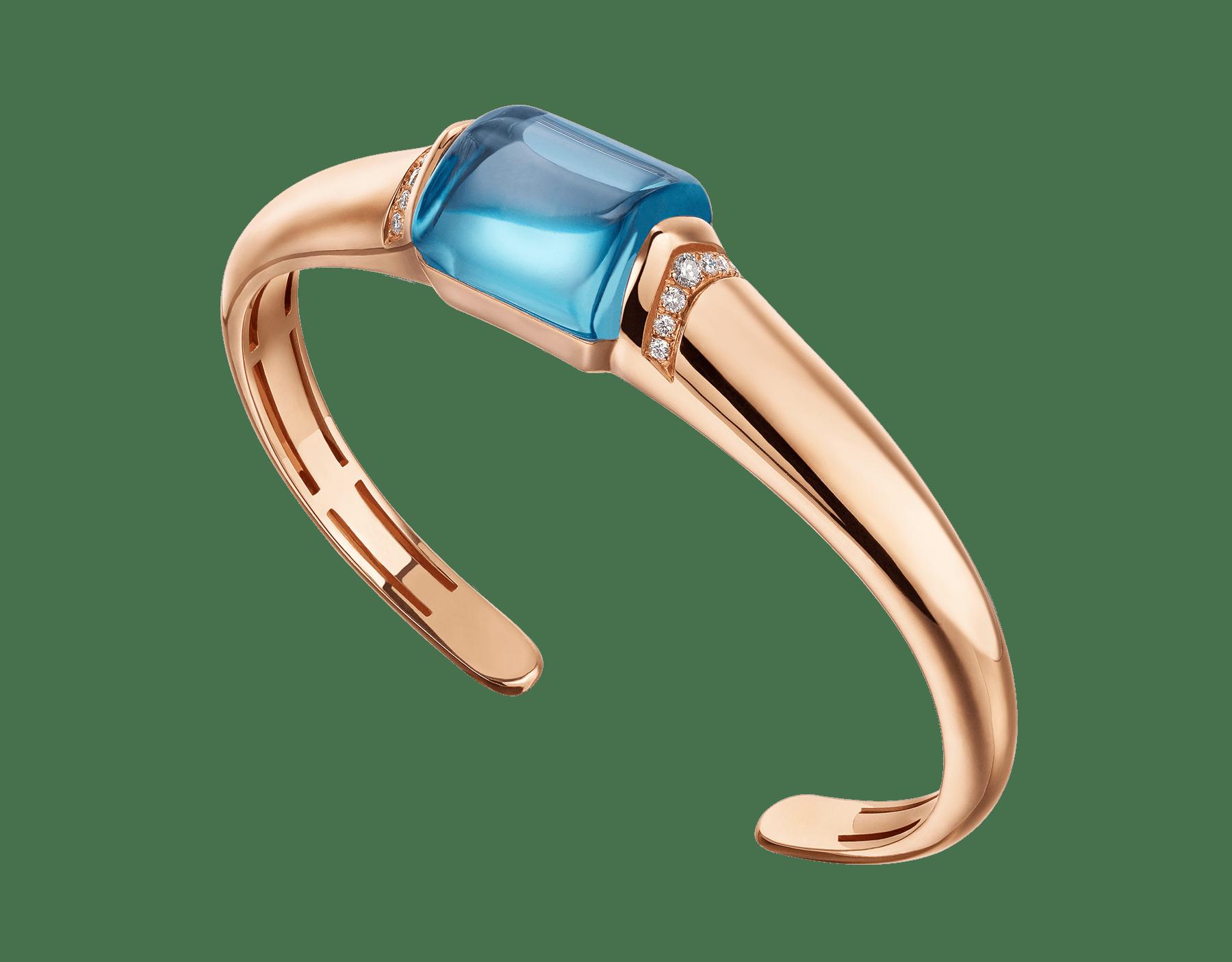 MVSA Armband aus 18 Karat Roségold mit einem blauen Topas und Diamant-Pavé 349554 image 1