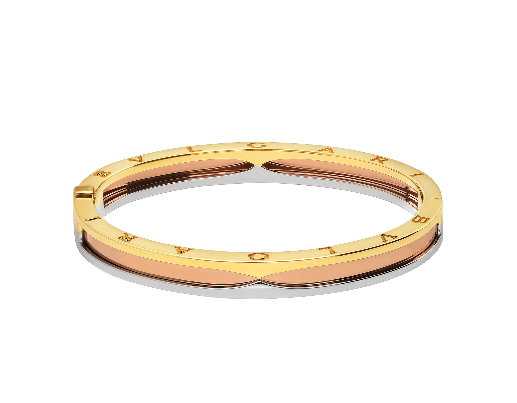 B.zero1 1bangle bracelet in 18 kt rose, yellow and white gold. BR857847 image 2