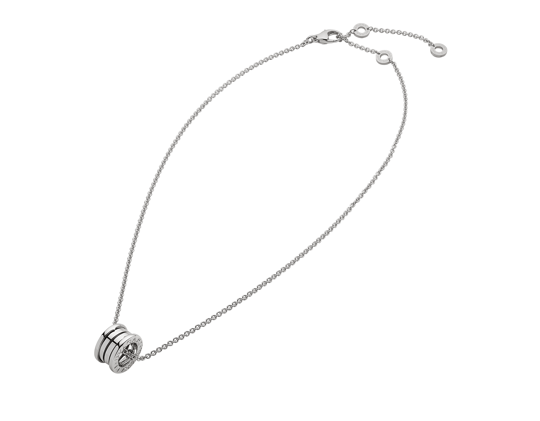 B.zero1 necklace with small round pendant, both in 18kt white gold. 352815 image 2