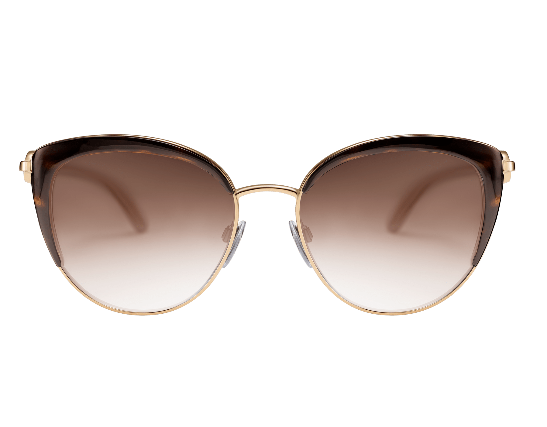 BVLGARI BVLGARI soft cat-eye metal sunglasses featuring a round décor with double logo. 903914 image 2