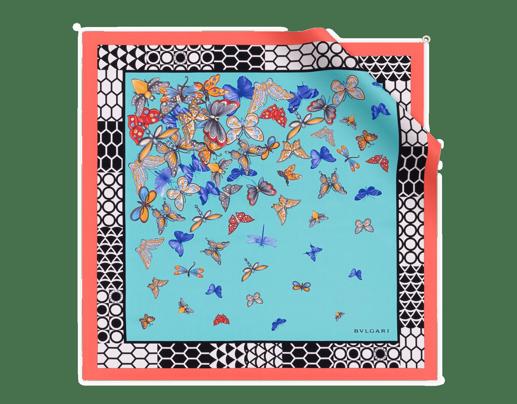 Arctic Jade B Fly scarf in fine silk twill. BFlyScarf image 1