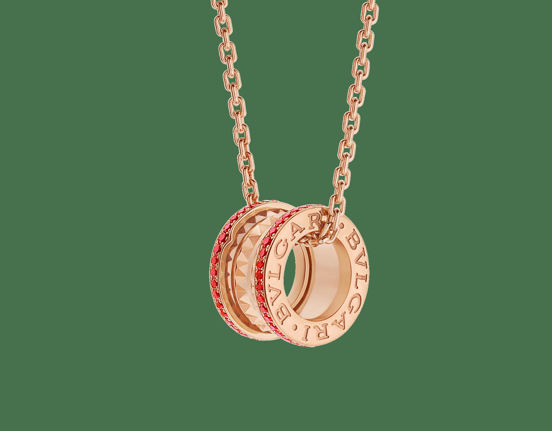 BVLGARI BVLGARI 18K 玫瑰金翻轉式戒指,鑲飾翡翠和密鑲鑽石。 358306 image 1