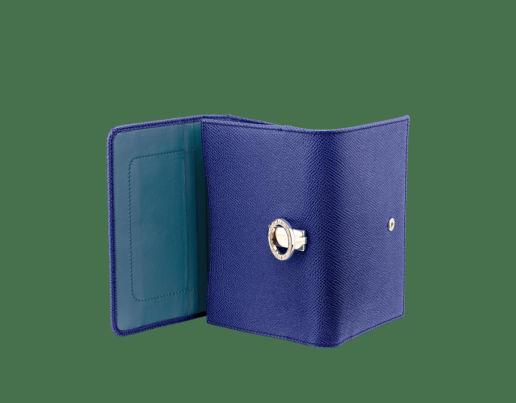 深藍色「Emoji Cat」圖案上等印花薩里昂絲七褶領帶。以奢華折紙工藝縫製而成,表裡均為真絲。純手工製作。8 公分 - 3.1 吋。 579-COMPPOCHETTE image 3
